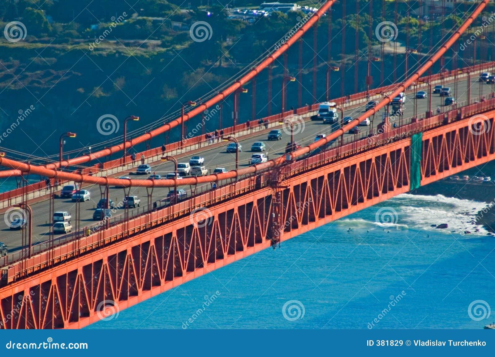 Circulation de pont en porte d or
