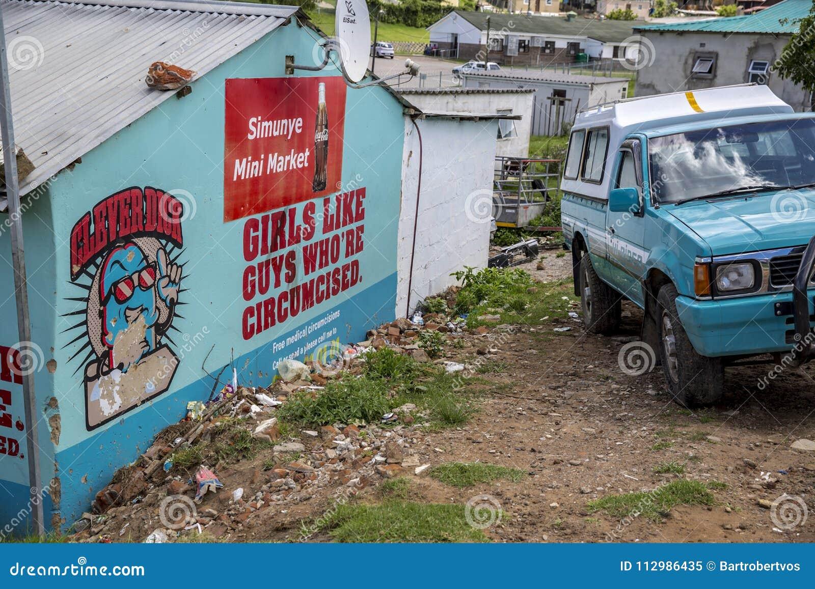 Circumcision ad in a township