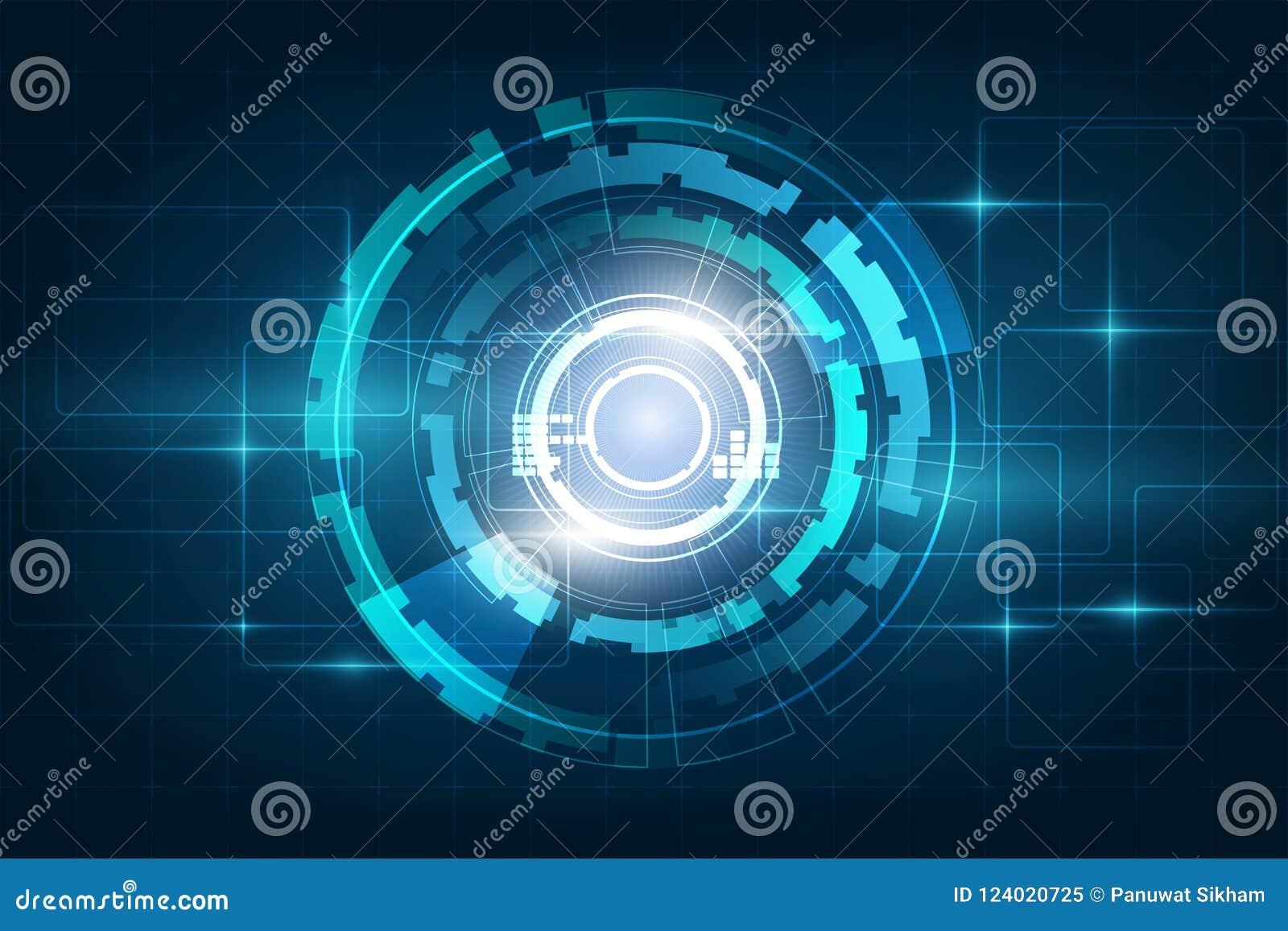 Circunde el backgr abstracto azul del vector del concepto de la innovación de la tecnología