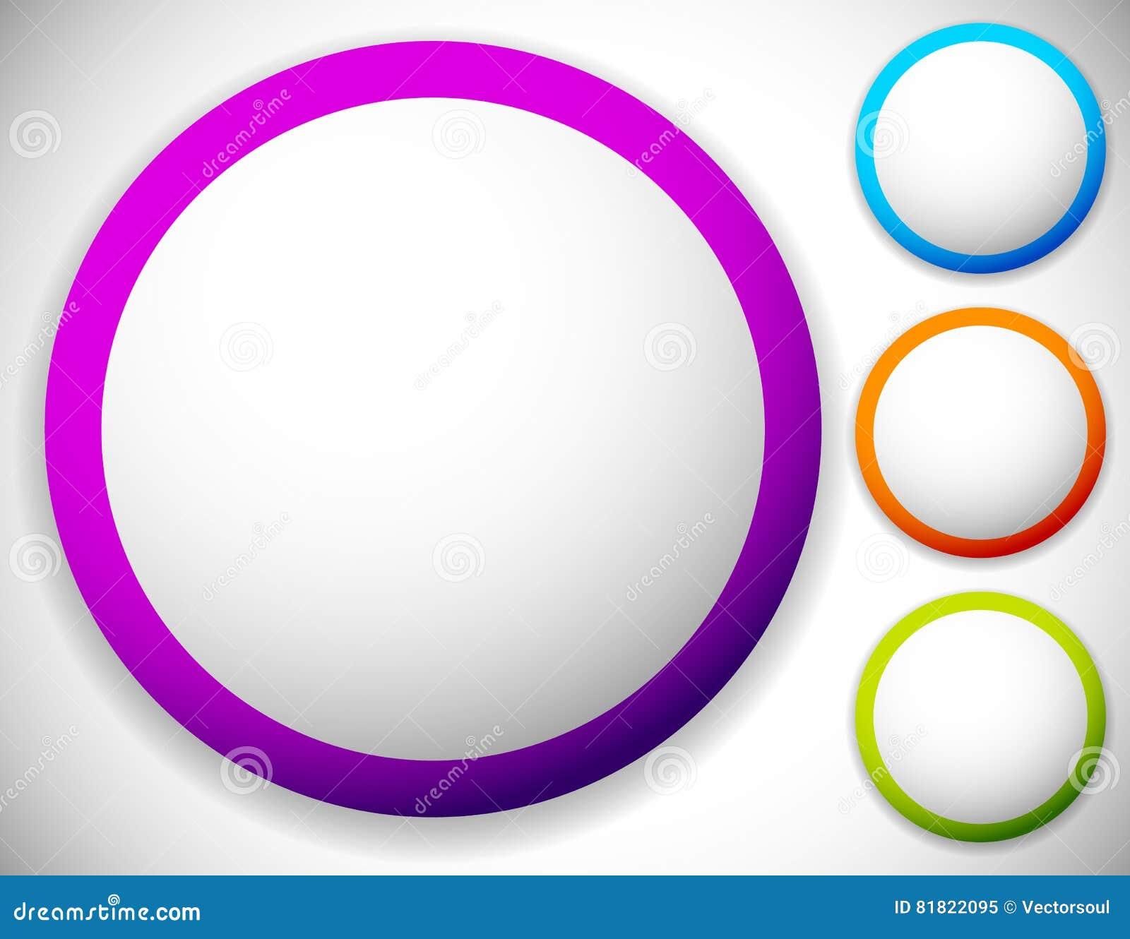 Circunde el botón, fondos en blanco de la insignia en el color cuatro
