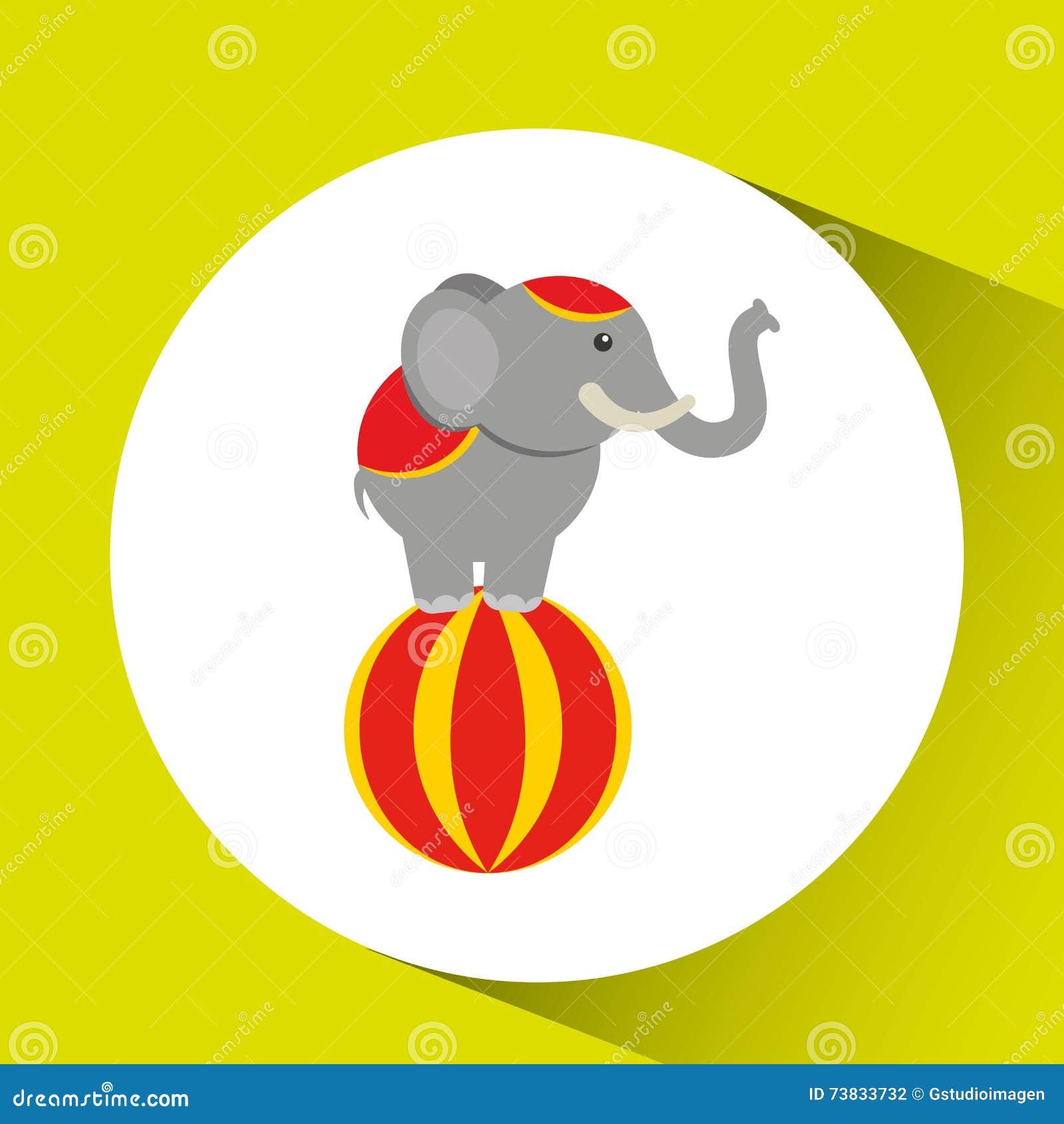 eb381c439c819 Circus Animal Isolated Icon Design Stock Illustration - Illustration ...