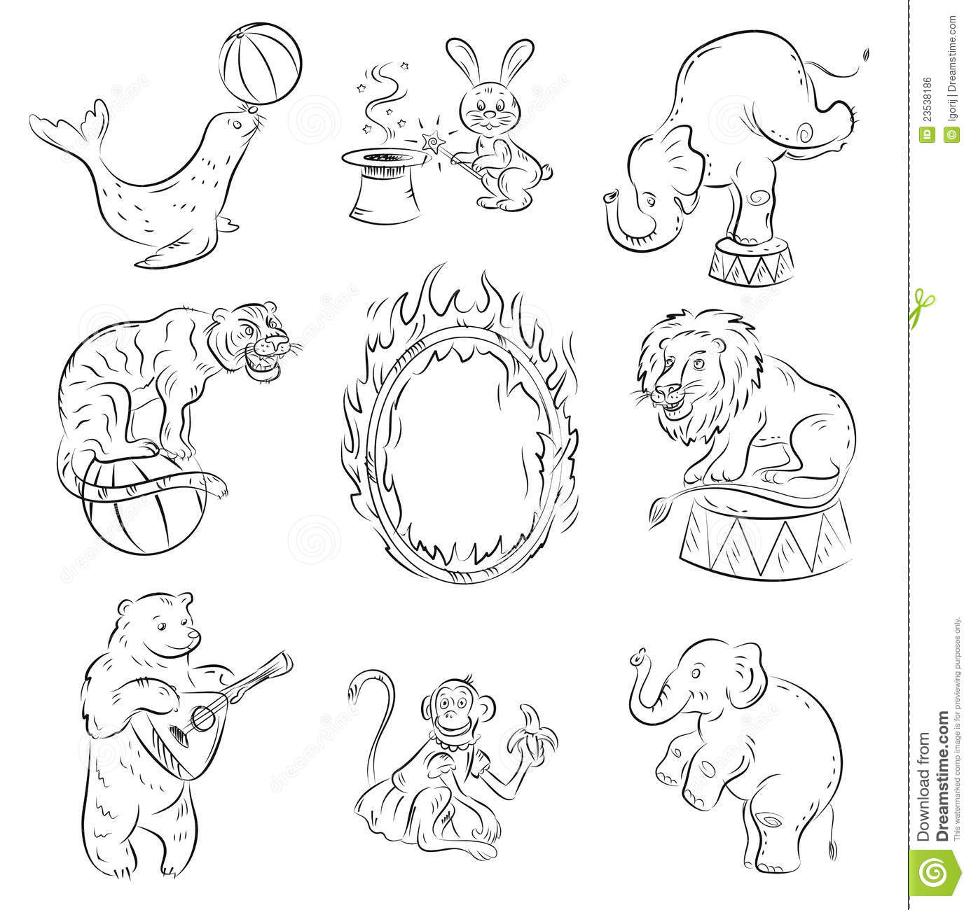 circus animals stock vector illustration of ball  icons circus elephant clipart free circus elephant clip art png