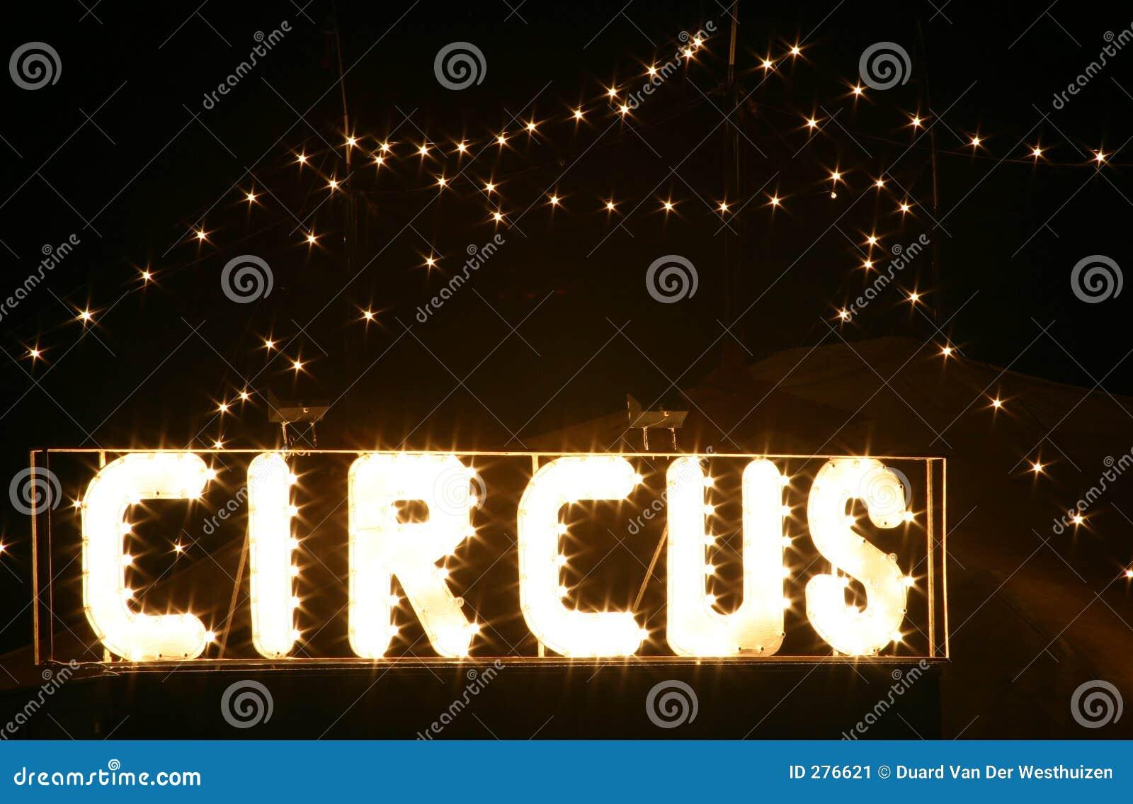 Circus bij nacht