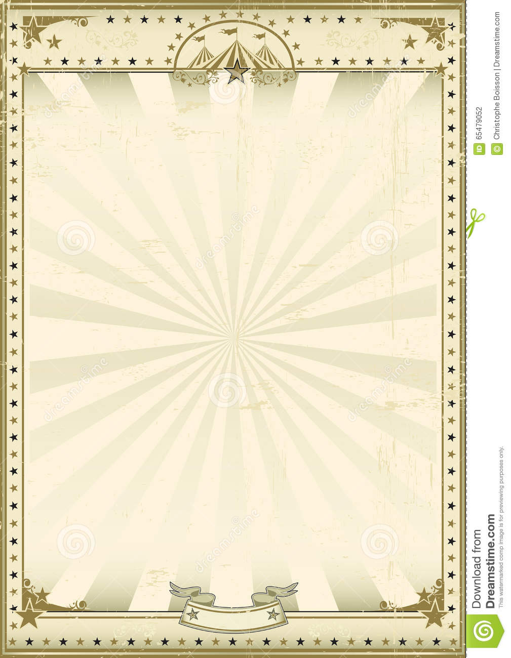 Circus Brown Vintage Background Stock Vector ...