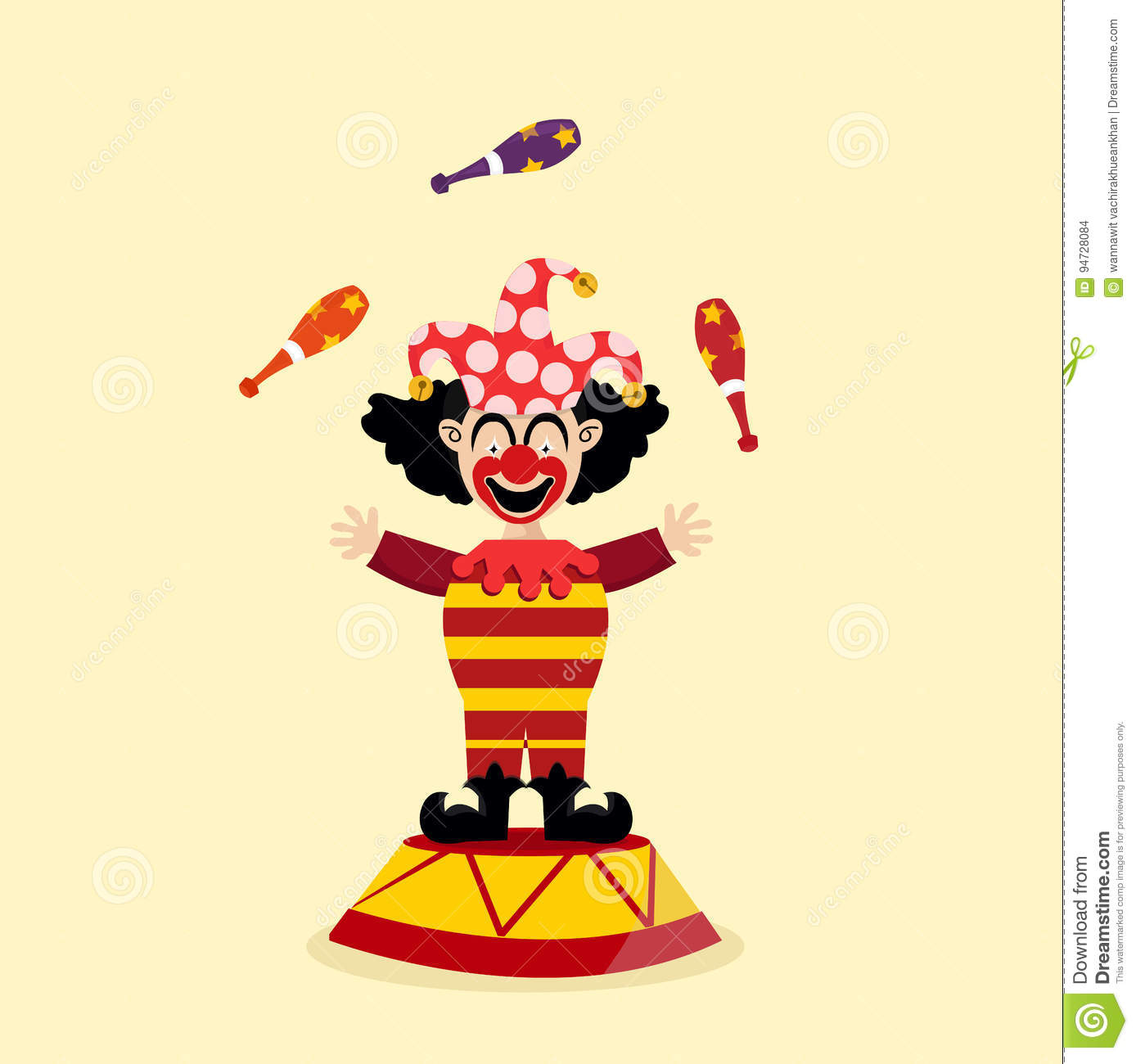 Circus Clown Illustration Stock Vector Illustration Of Collection