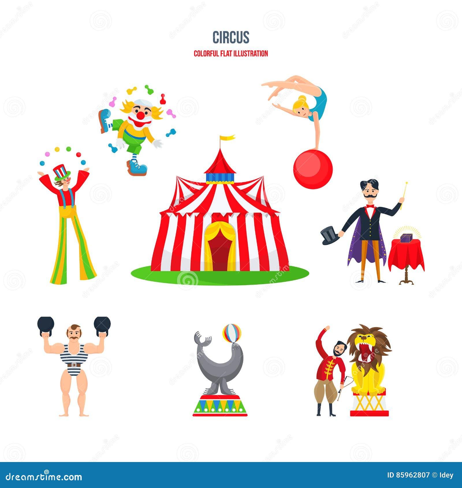 Circus acrobat cartoon - photo#31
