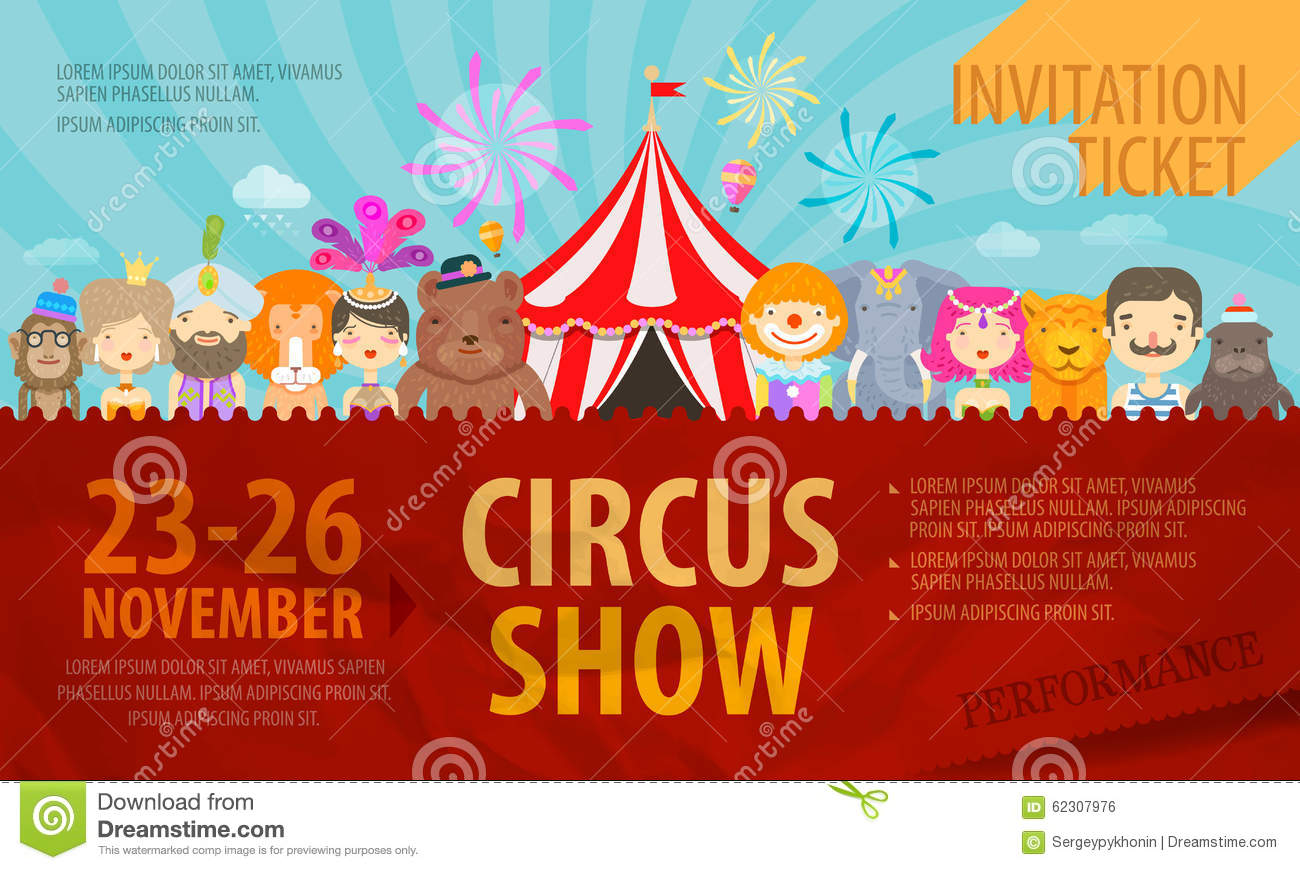 circus design template posters or ticket vector stock vector