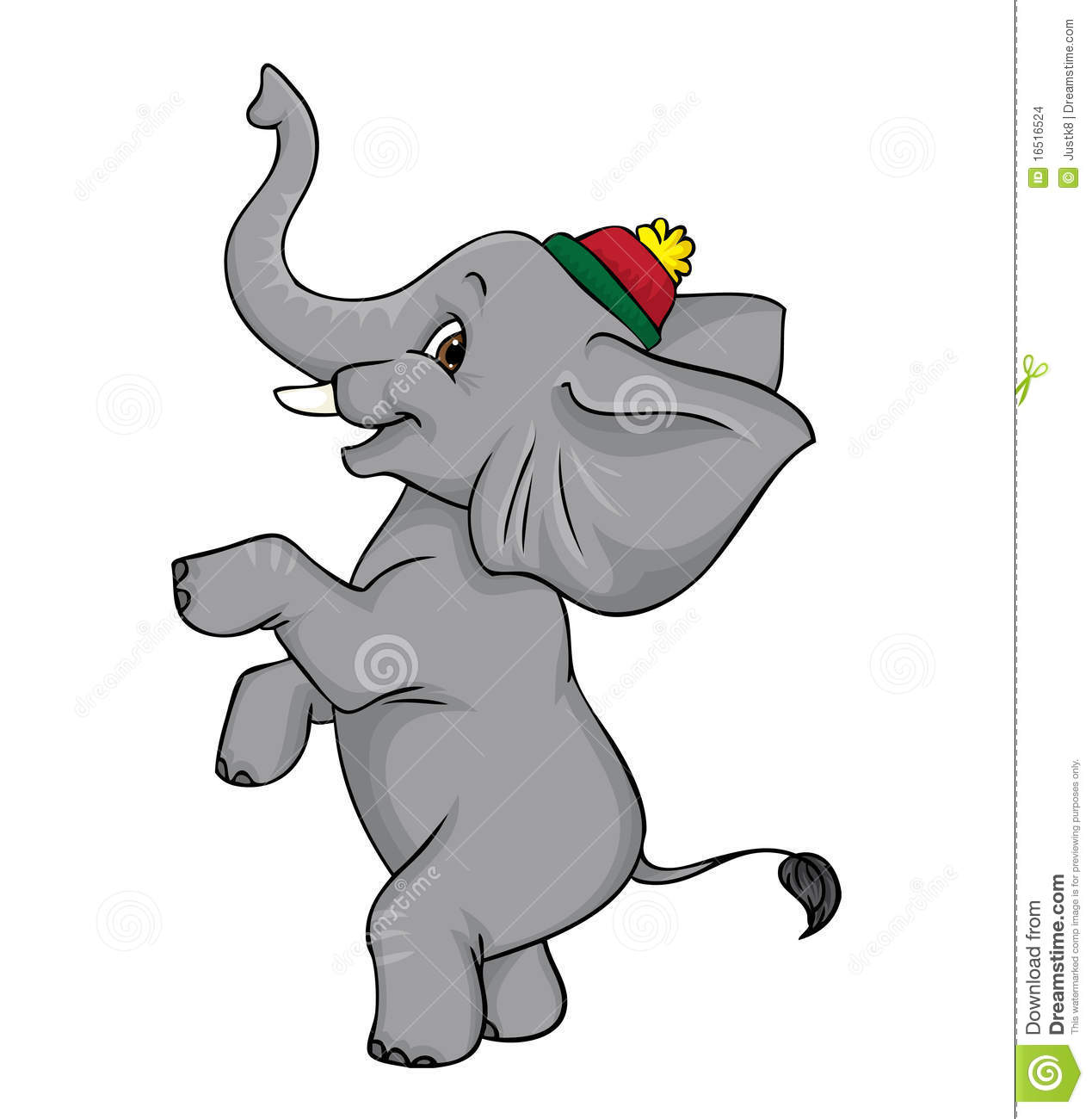 Circus elephant Stock Images Vintage Circus Elephant On Ball Clip Art