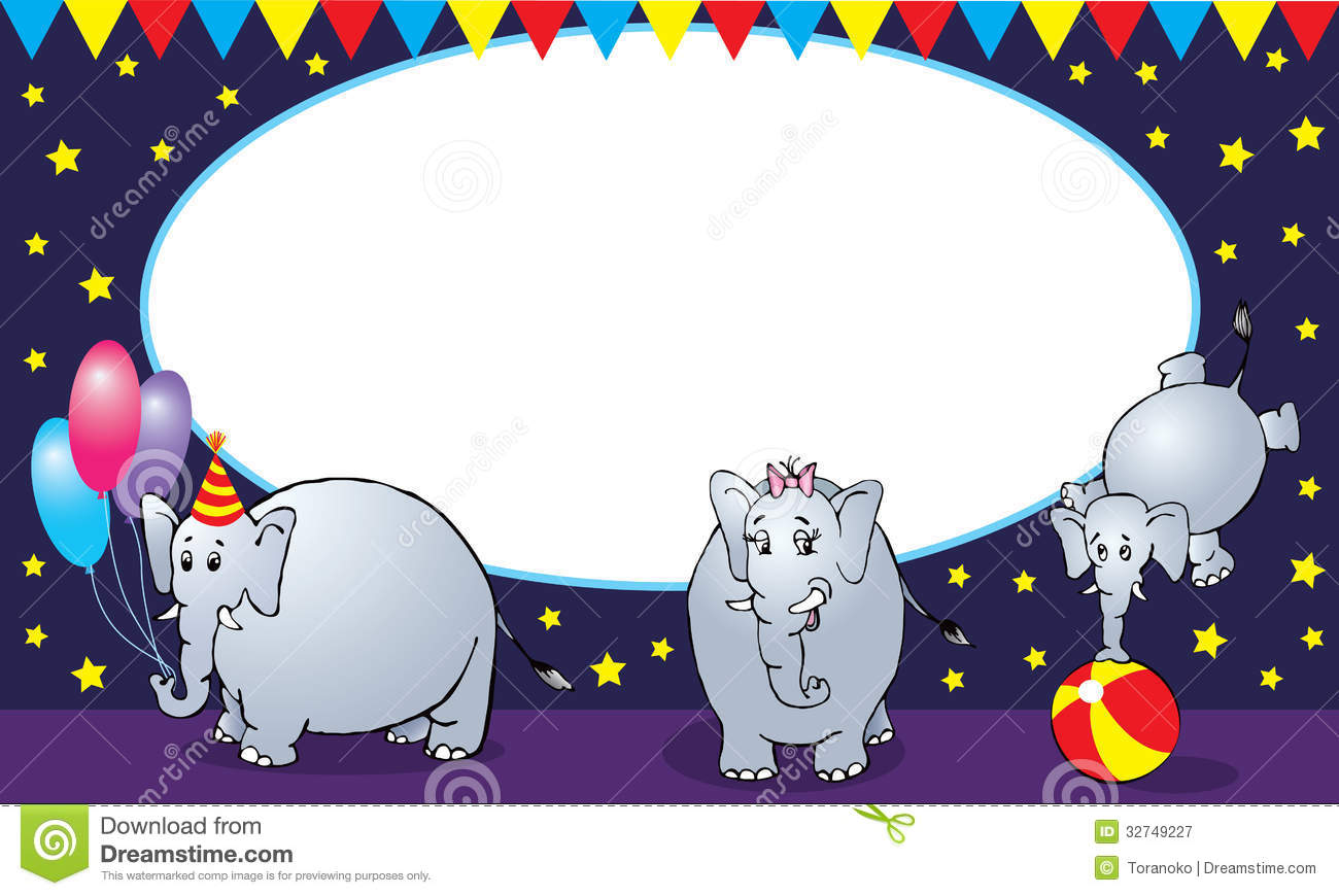 Circus elephant family stock vector. Image of father ...