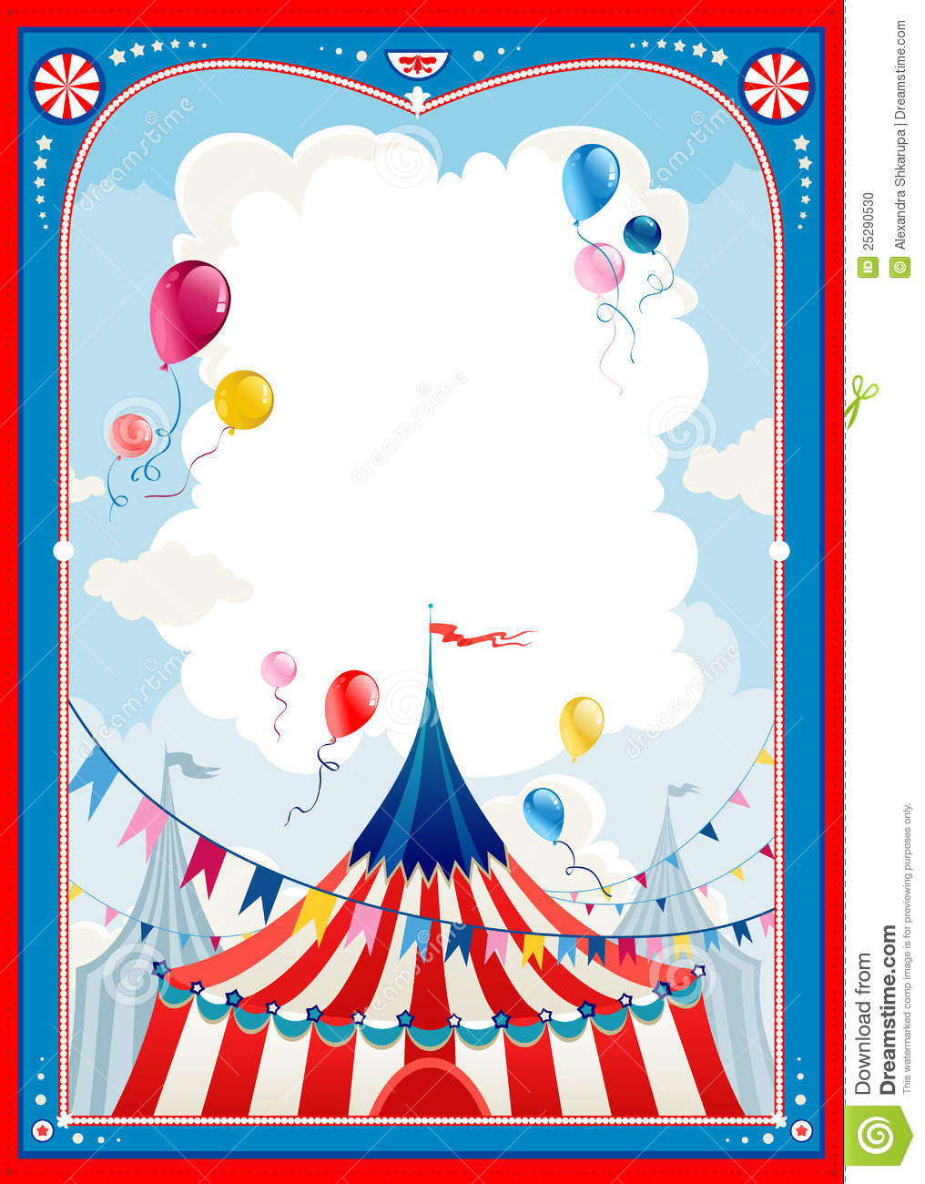 Circus Frame Stock Photo - Image: 25290530