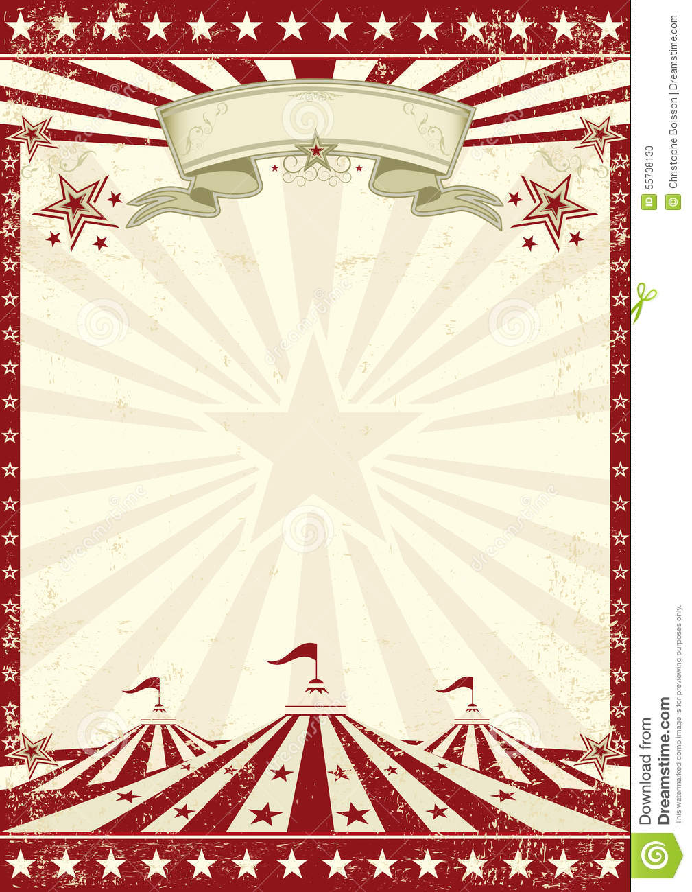 Vintage Circus Poster Background Circus grunge r...