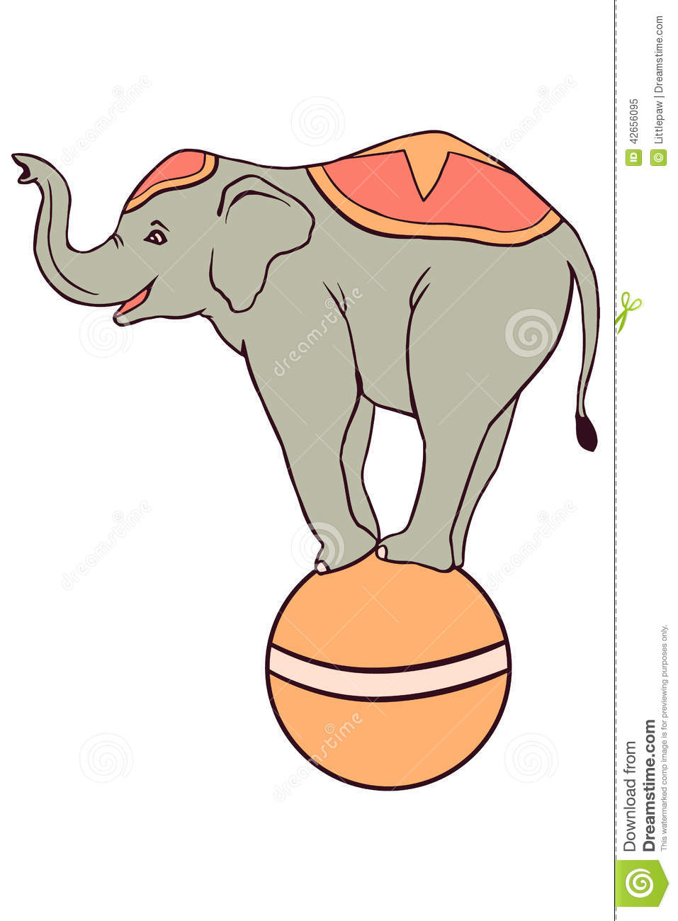 Circus Illustration With Elephant Stock Vector ...