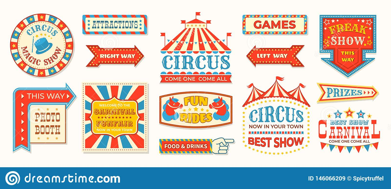 photograph relating to Free Printable Carnival Signs titled Circus Labels. Carnival Retro Banner Signs or symptoms, Classic Magic