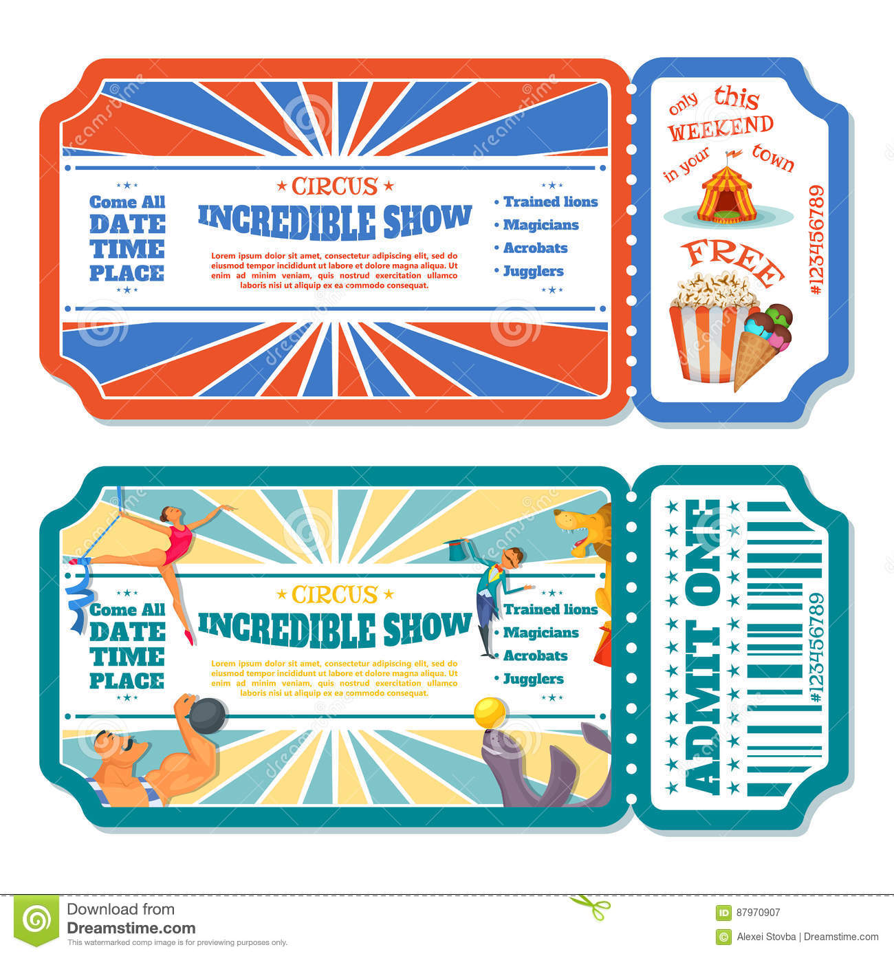 show ticket template