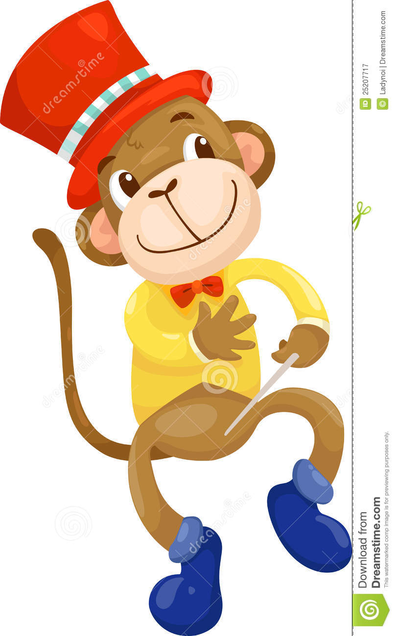 Circus monkey vector stock vector illustration of icon 25207717