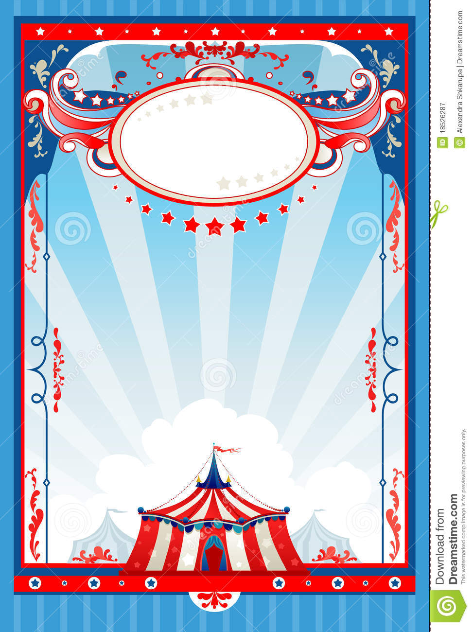 circus poster template free download