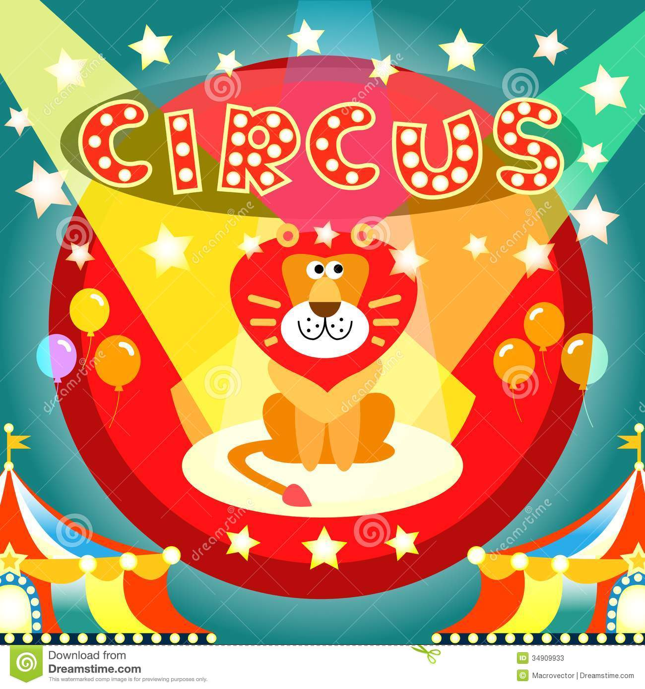 circus poster stock vector  image of character  mane
