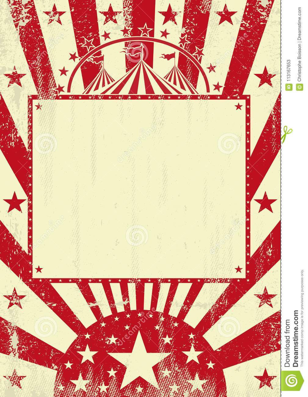 Circus Red Grunge Background Stock Vector - Illustration of show ...