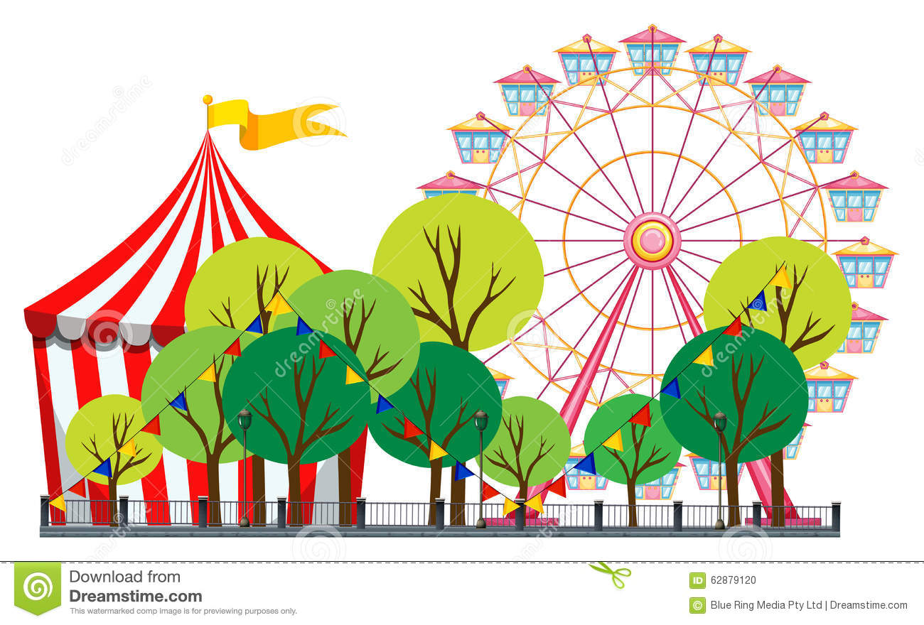 how to draw a carnival scene