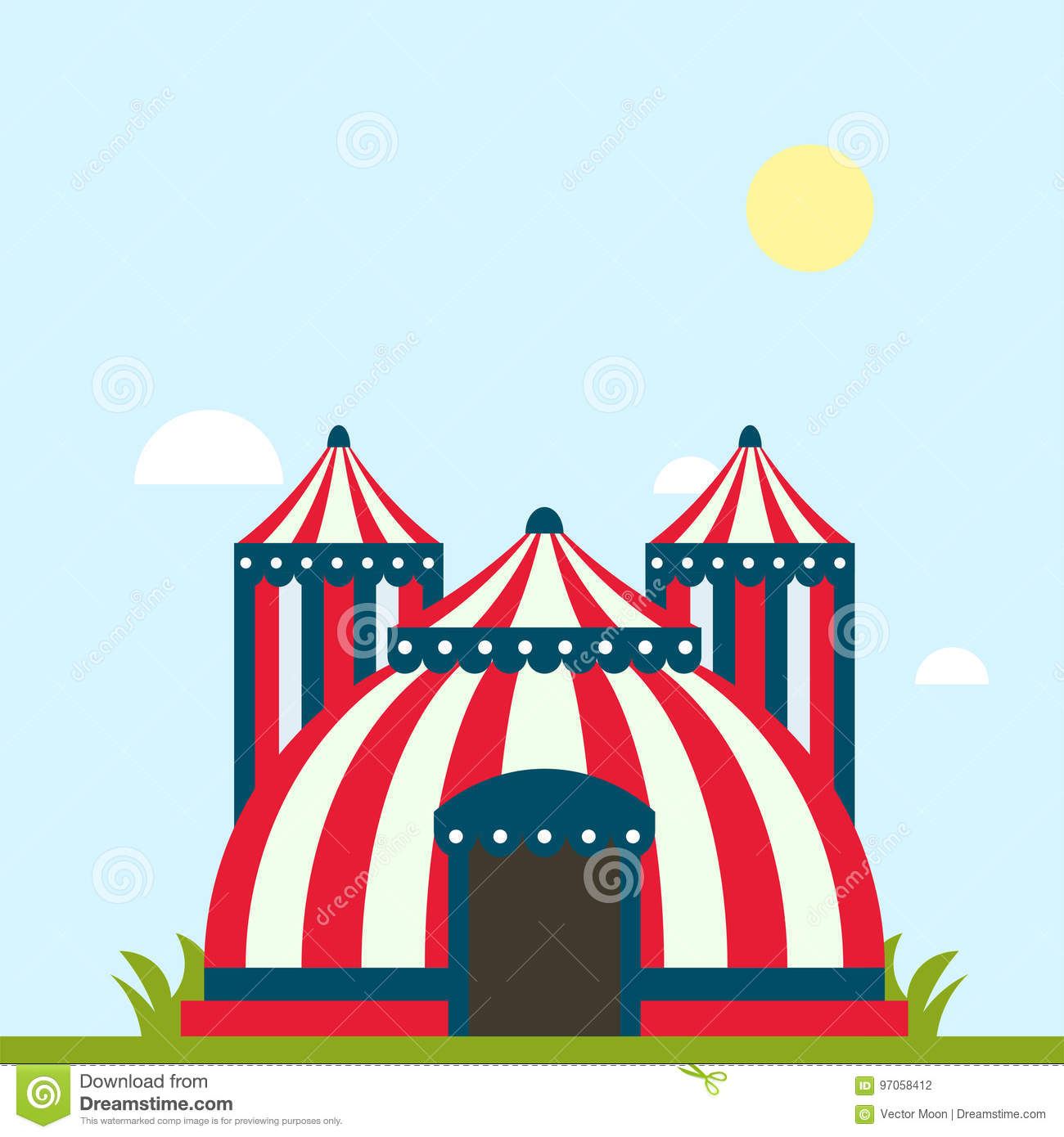 Circus show entertainment tent marquee marquee outdoor festival with stripes and flags isolated carnival signs  sc 1 st  Dreamstime.com & Circus Show Entertainment Tent Marquee Marquee Outdoor Festival With ...