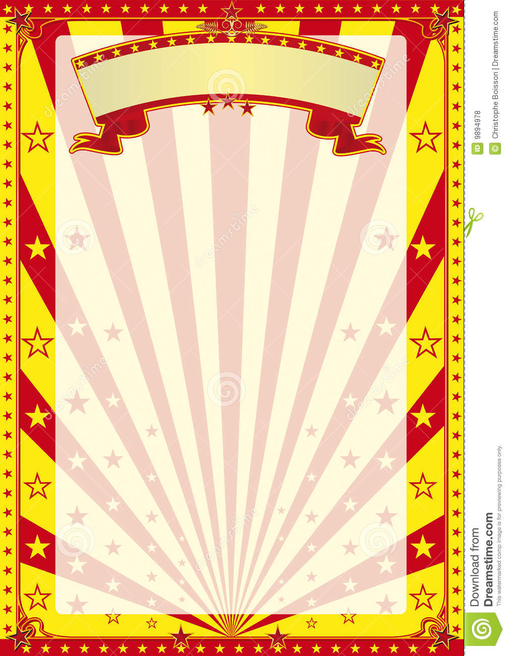 circus stripped poster stock illustration illustration of fete