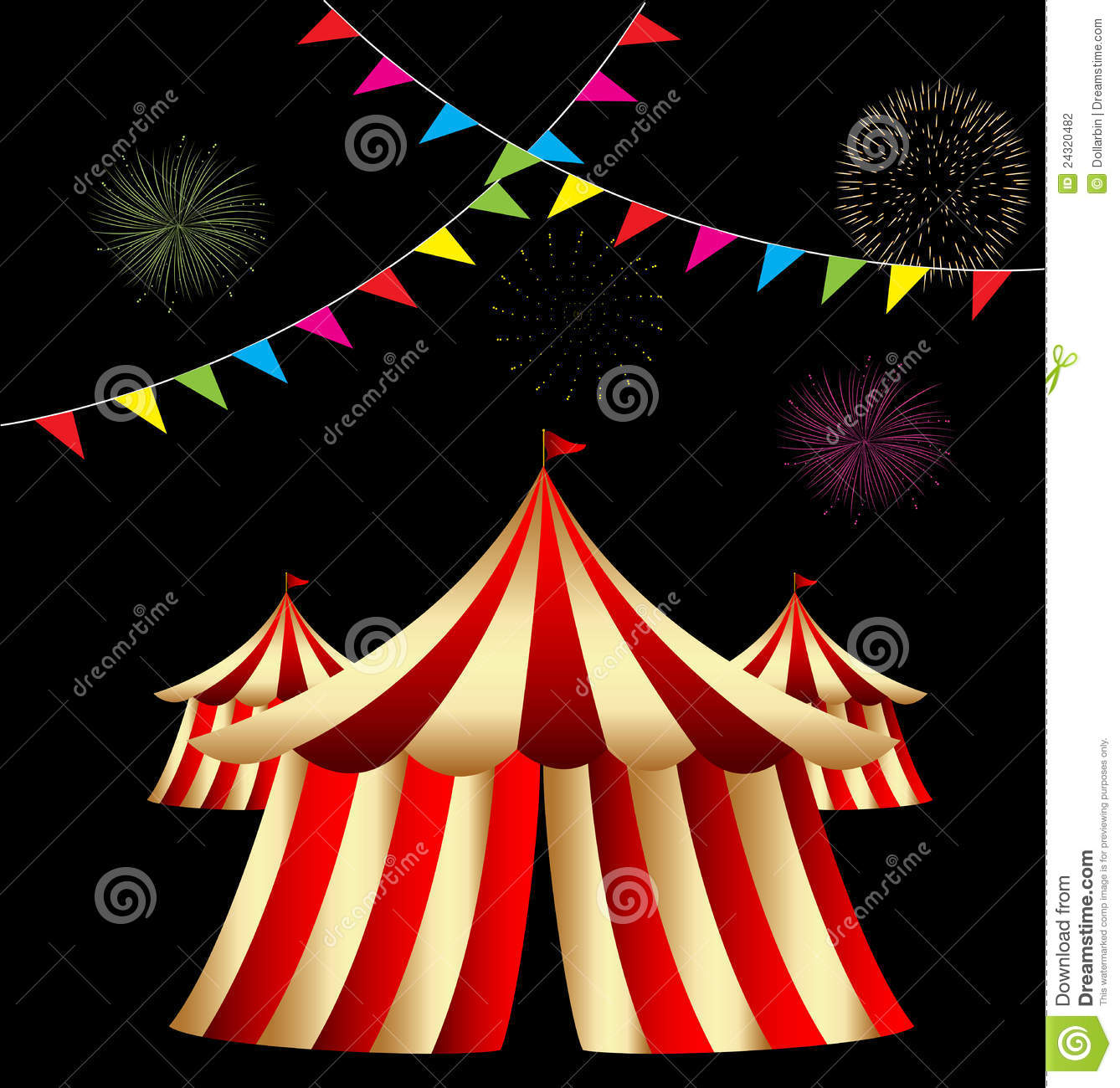 Circus Tent  sc 1 st  Dreamstime.com & Circus Tent stock vector. Illustration of cloud revival - 24320482