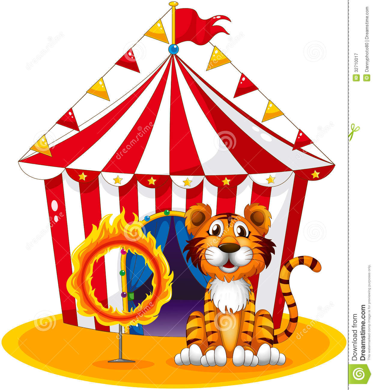 A Circus Tent At The Back Of The Tiger And The Ring Of