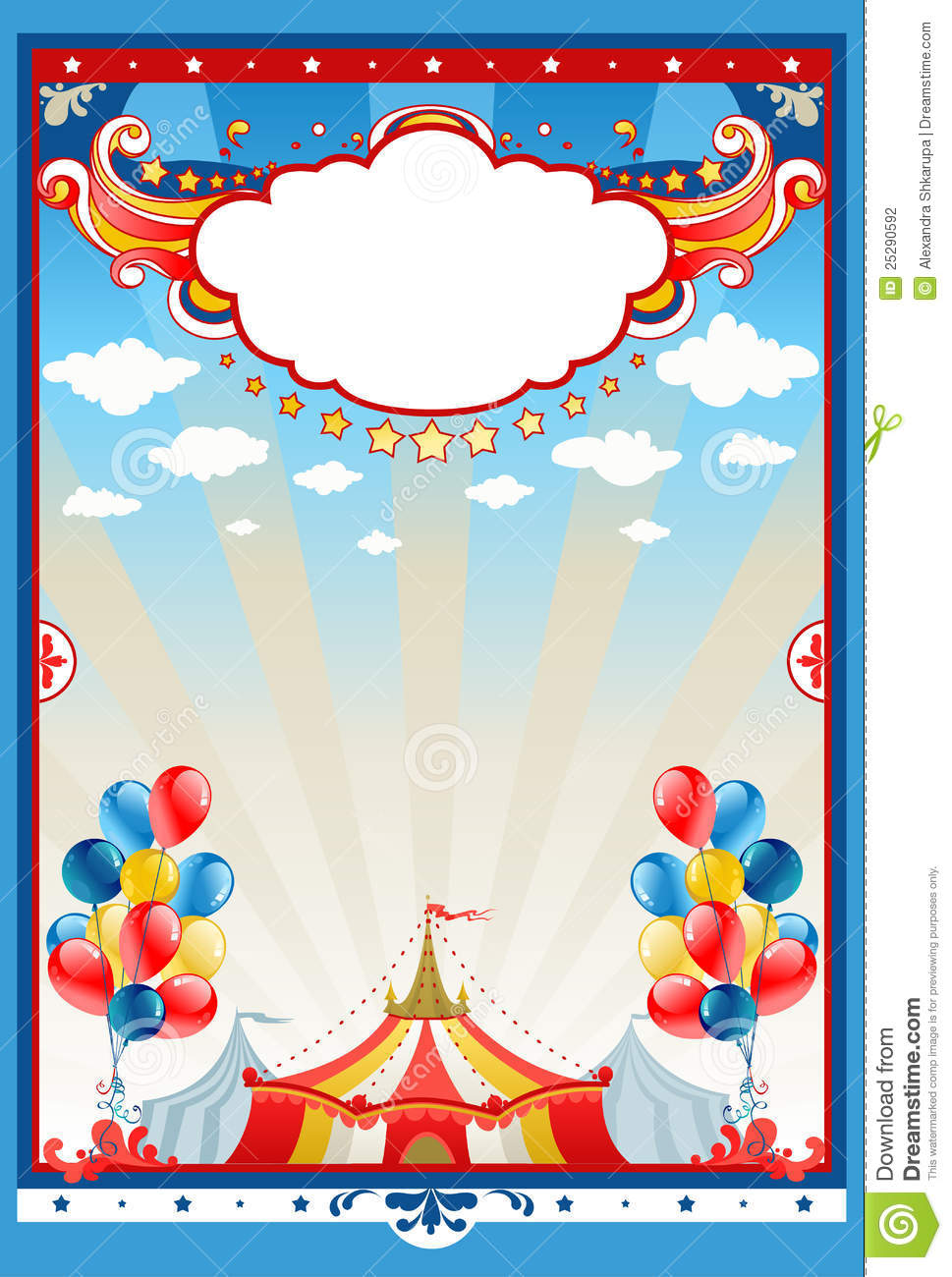 circus tent background stock vector image of party color