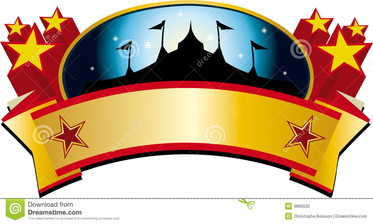 Circus Tent Banner Stock Vector. Illustration Of Star