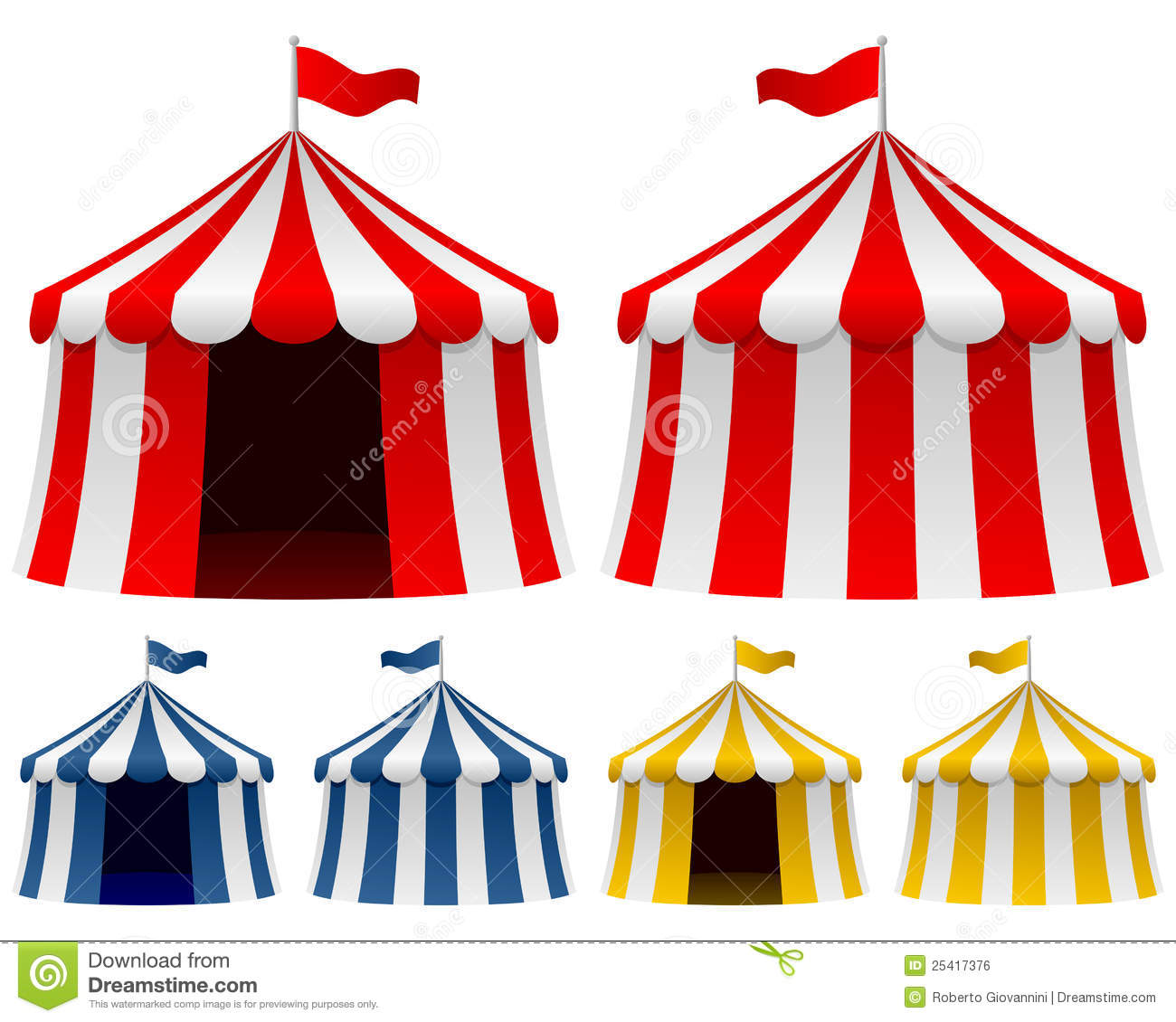 Circus Tent Collection stock vector. Image of illustration - 25417376