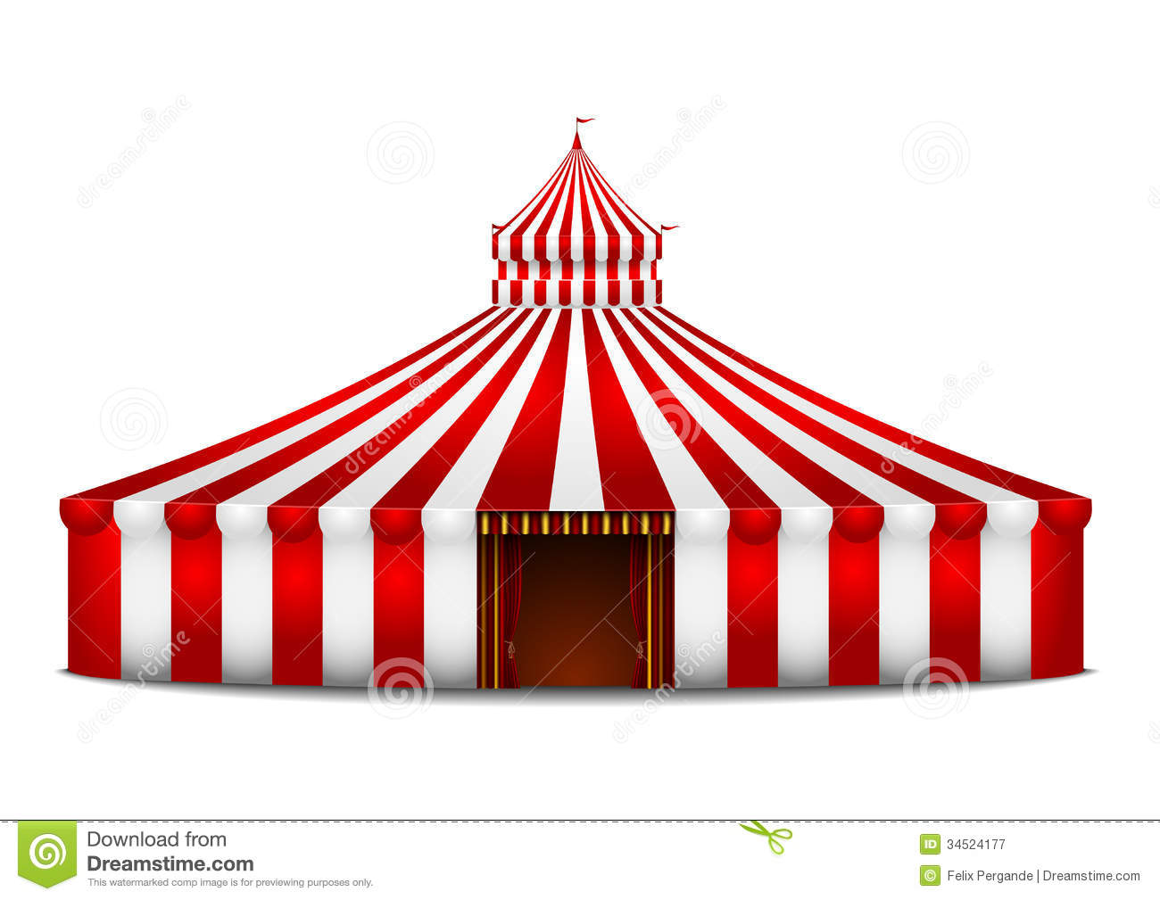 Image result for red white circus tent