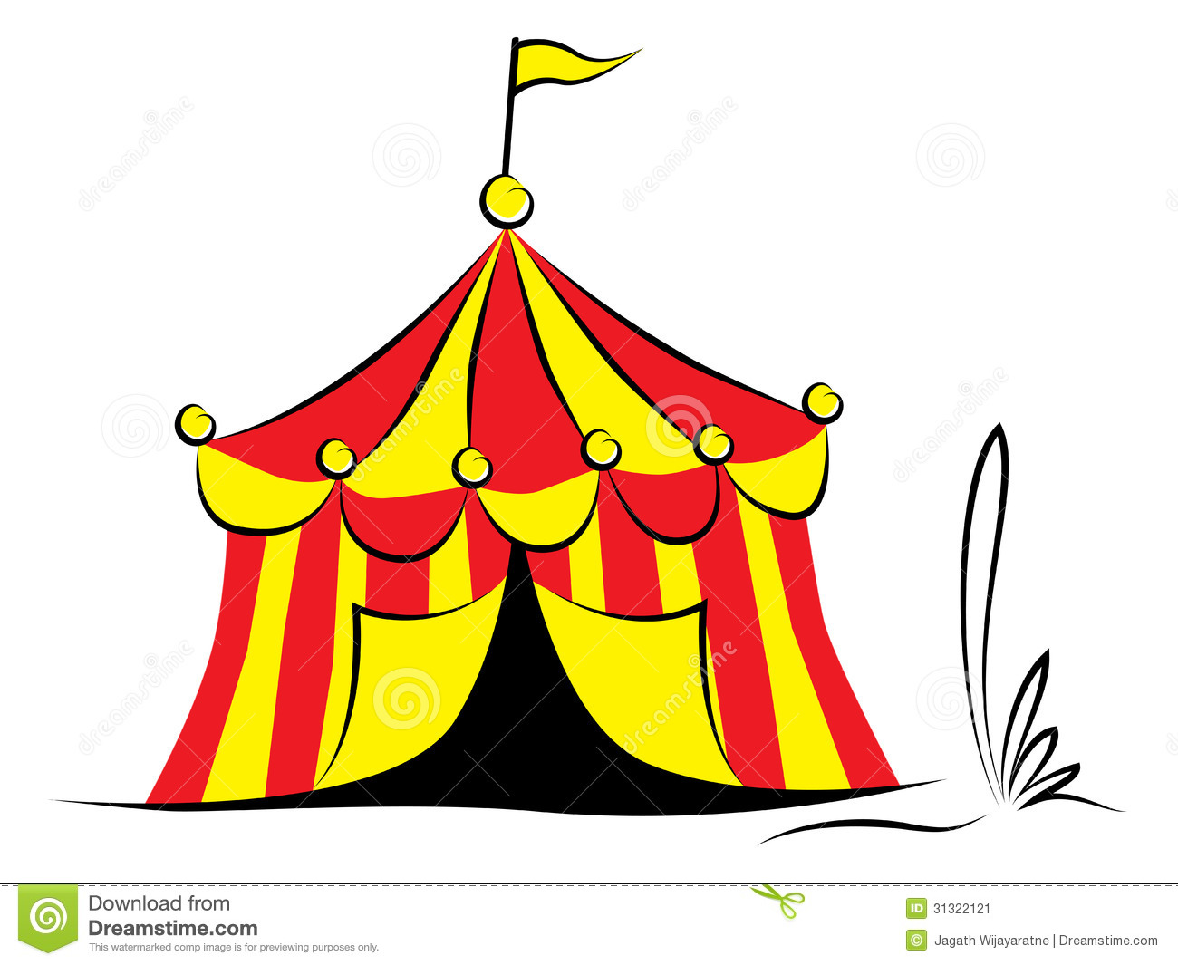 Circus tent with flag  sc 1 st  Dreamstime.com & Circus tent with flag stock vector. Illustration of architecture ...
