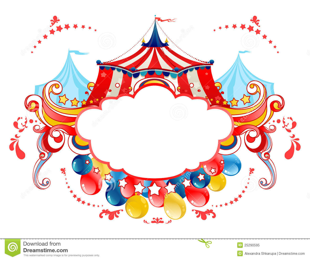 Circus Tent Frame Royalty Free Stock Photo - Image: 25290595