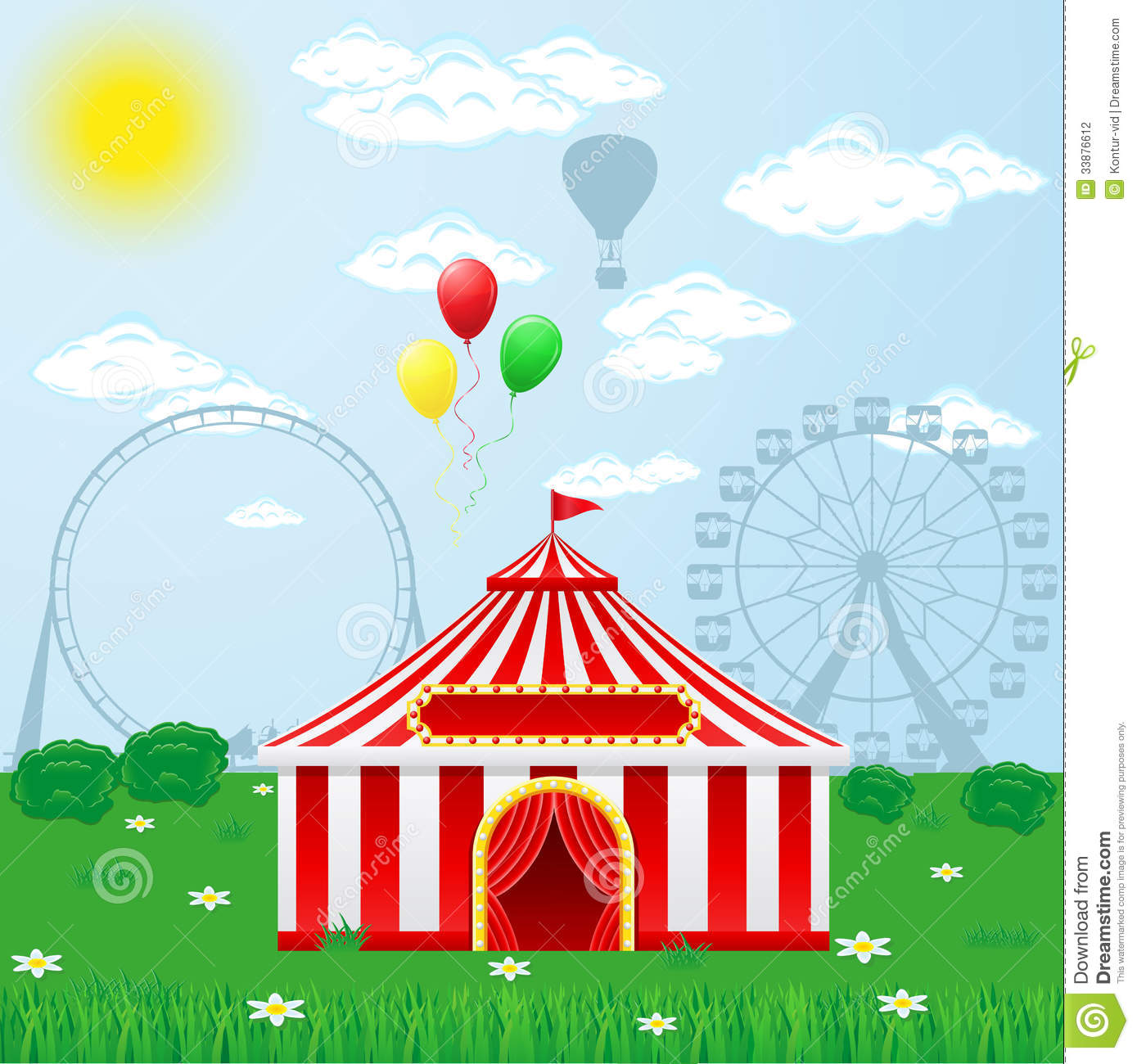 Circus tent on nature stock vector. Illustration of open ...