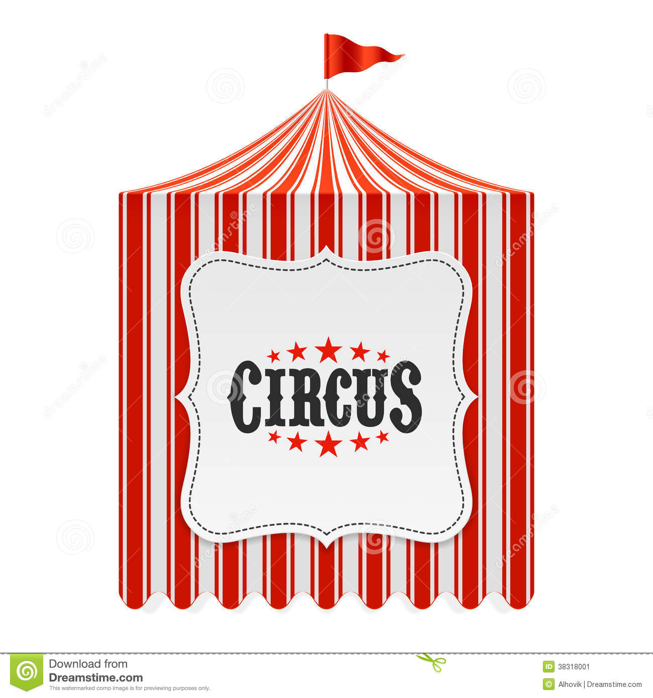 Circus Tent, Poster Background Stock Image - Image: 38318001