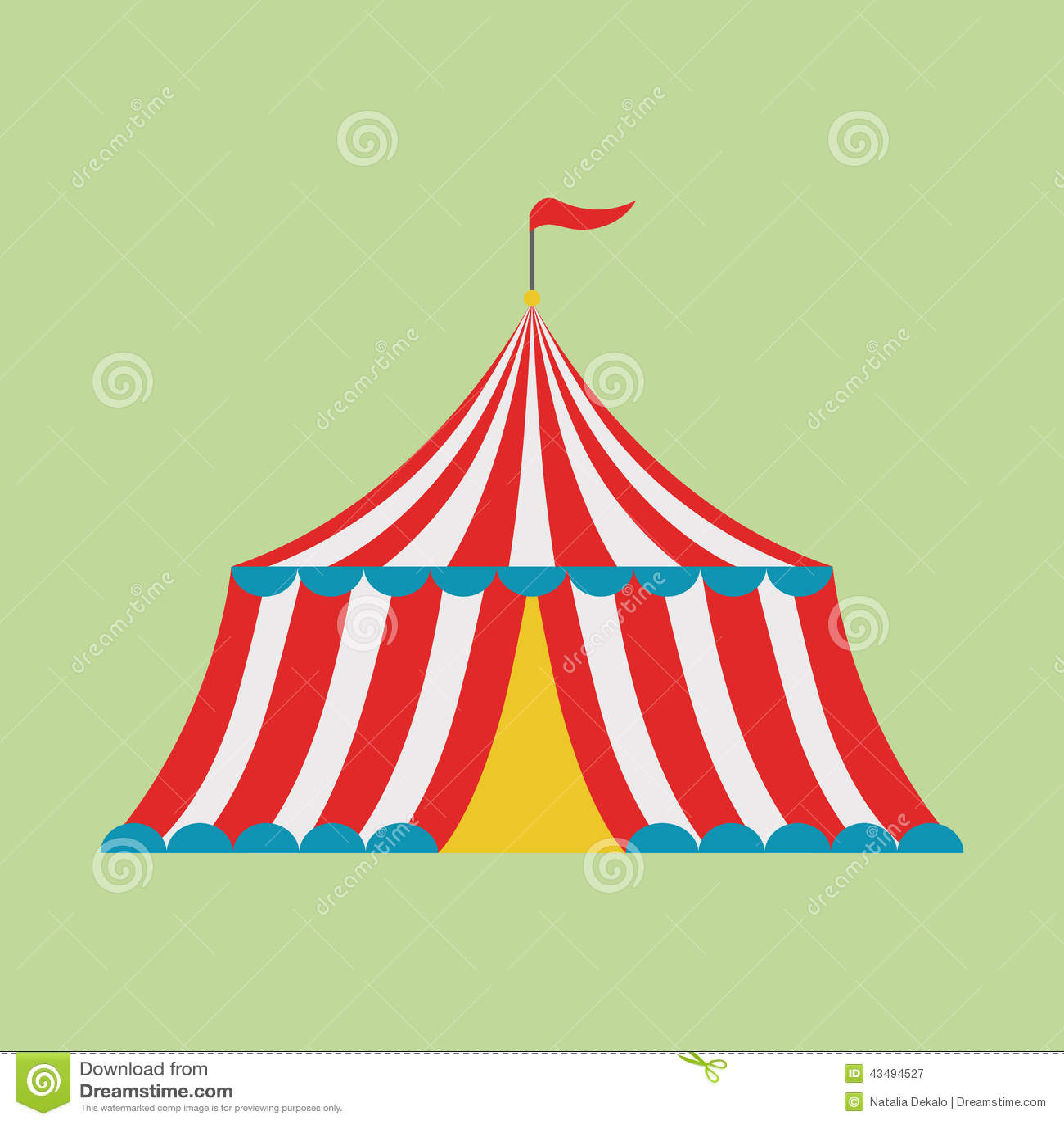 Circus tent stock vector. Image of cartoon, childhood ...