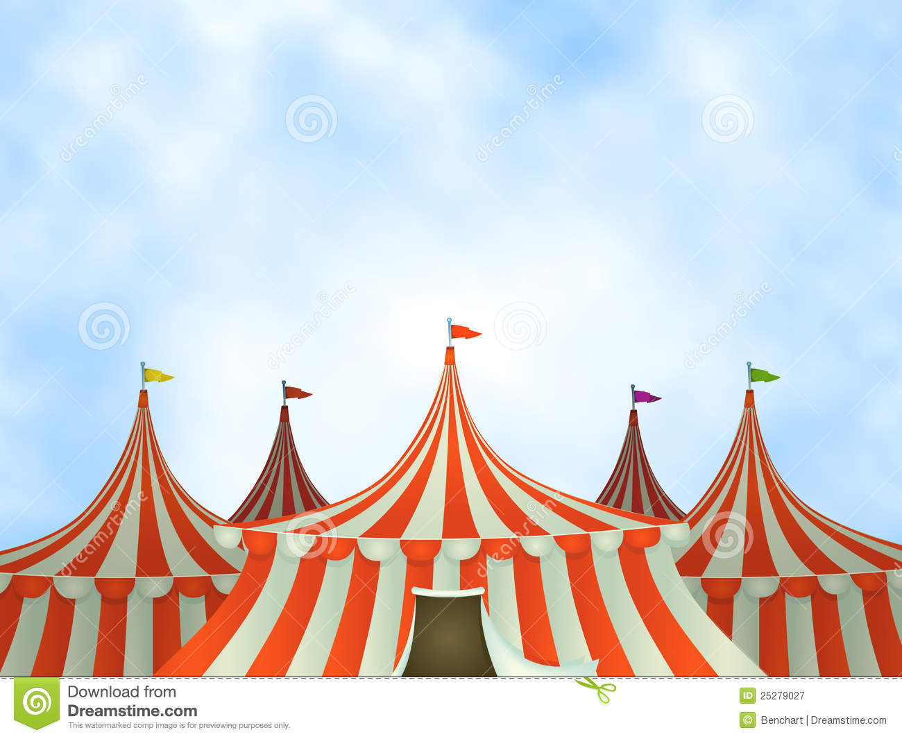 Circus Tents Background  sc 1 st  Dreamstime.com & Circus Tents Background stock vector. Illustration of tarpaulin ...
