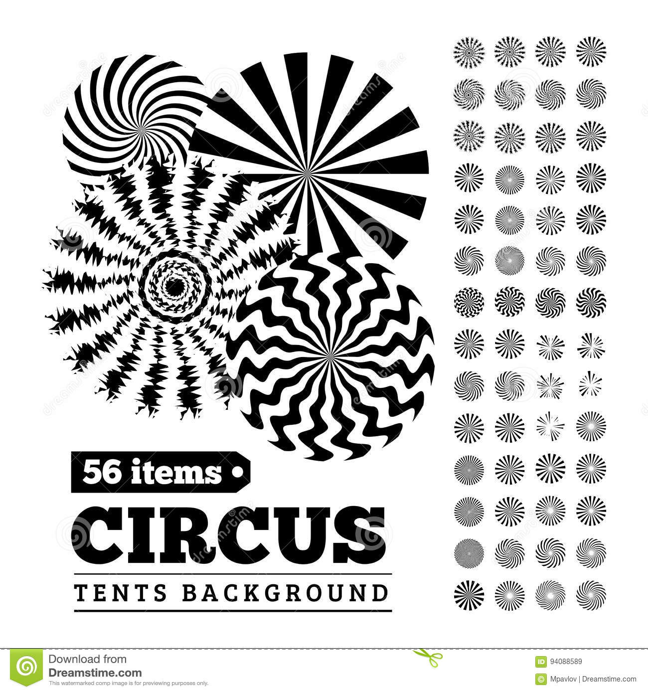 Circus tents backgrounds or circular illustrations for your design  sc 1 st  Dreamstime.com & Circus Tents Backgrounds Or Circular Illustrations For Your Design ...