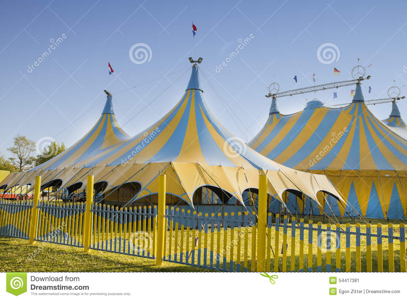 Circus tents & Circus tents stock image. Image of funny blue outdoor - 54417381