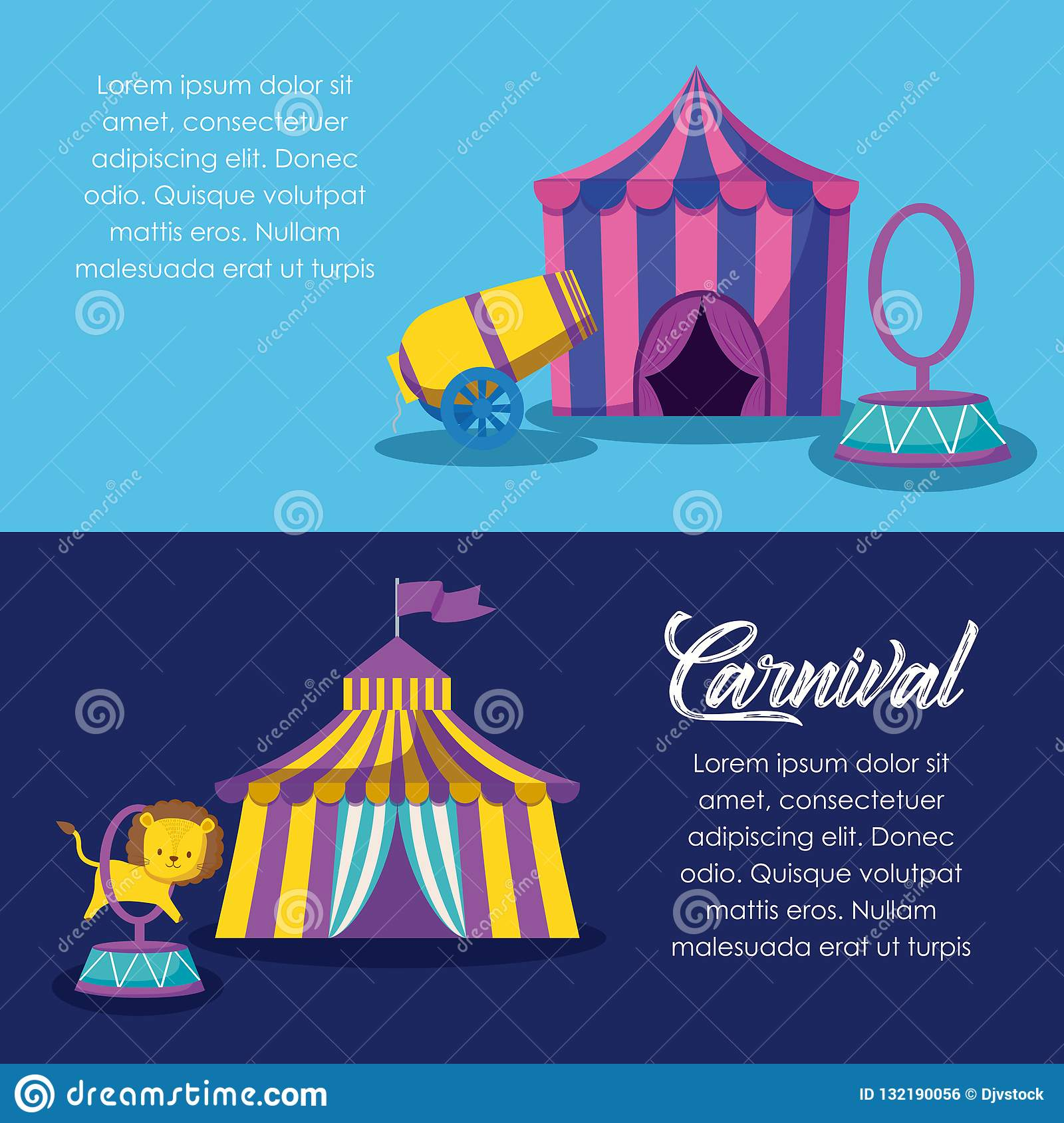Circus tents with cannon and ring  sc 1 st  Dreamstime.com & Circus Tents With Cannon And Ring Stock Vector - Illustration of ...