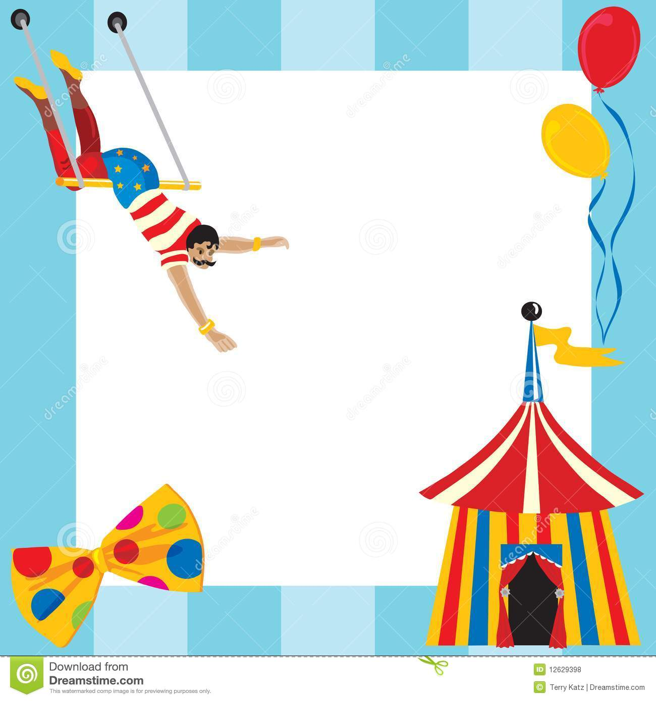 Cute Circus themed party invitation with room for you type.