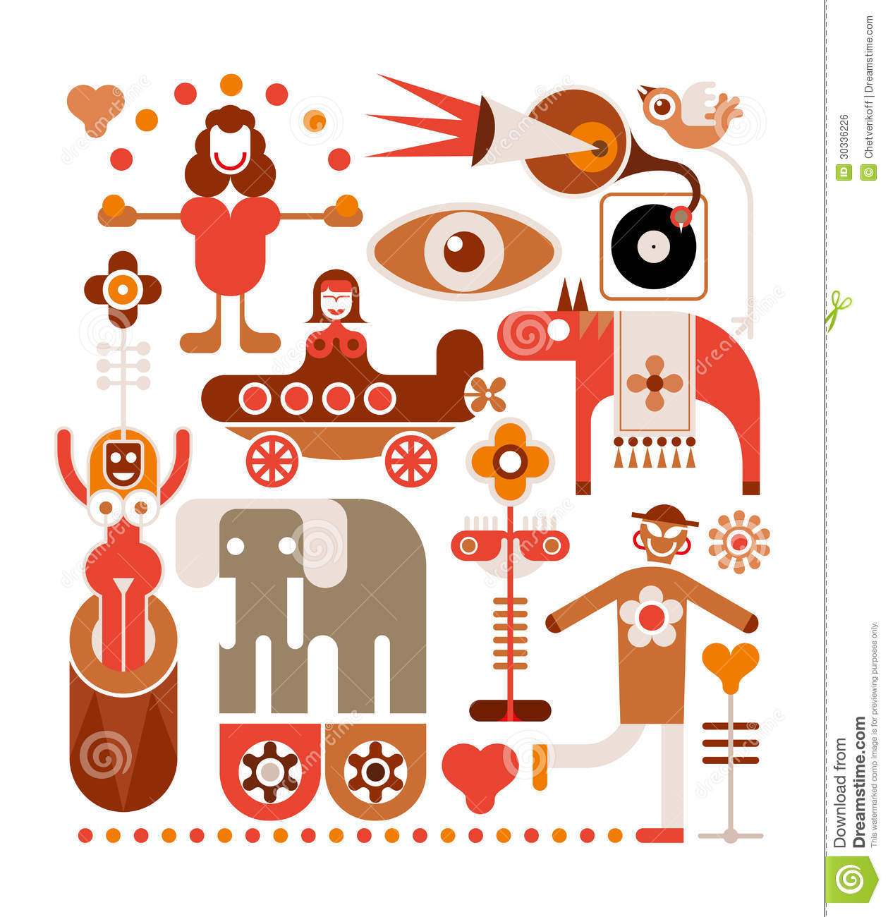 Circus - Vector Illustration Royalty Free Stock Image - Image ...
