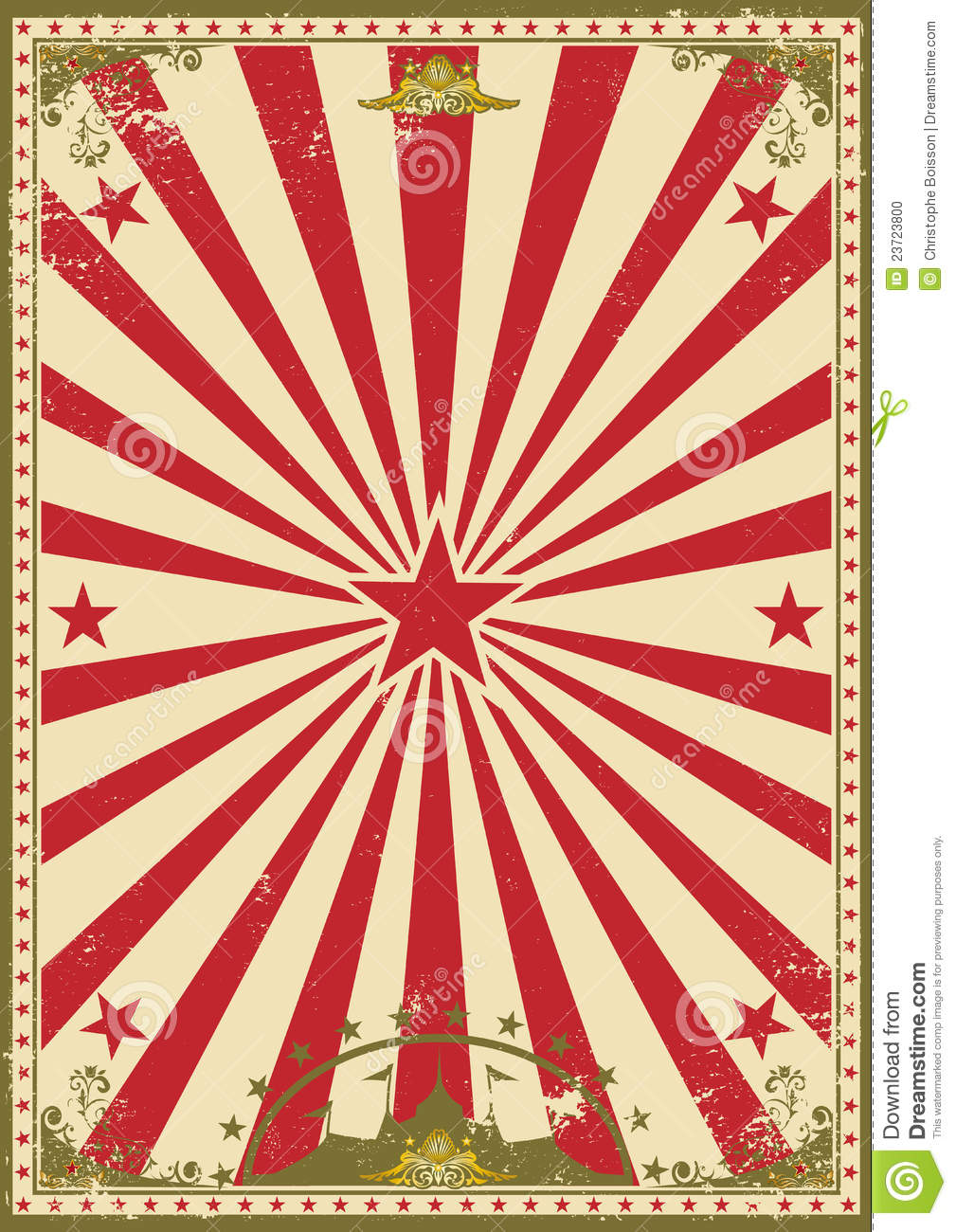 Old Fashioned Wallpaper Circus