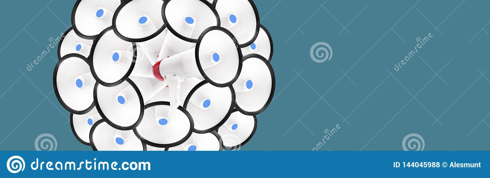 Cirkel van megafoons