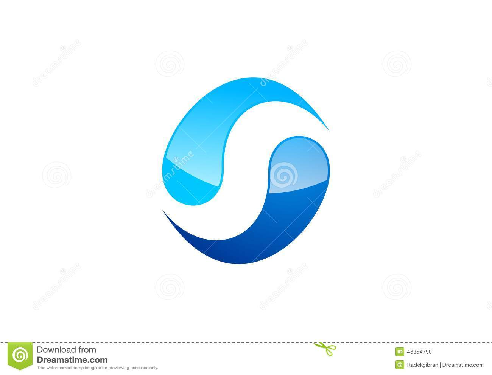 Cirkel vatten, logo, vind, sfär, abstrakt begrepp, bokstav S, företag, korporation