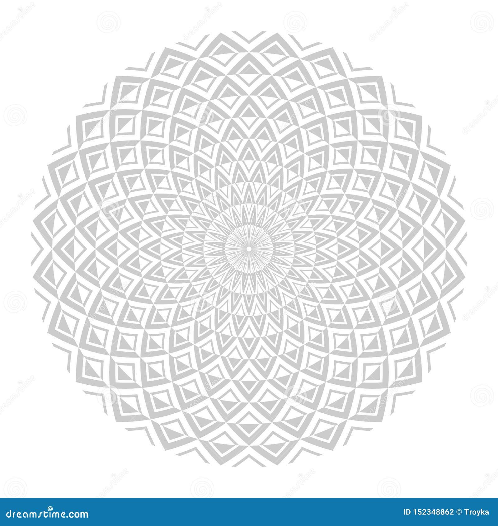 Cirkeldesign Abstrakt geometrisk rotationsmodell