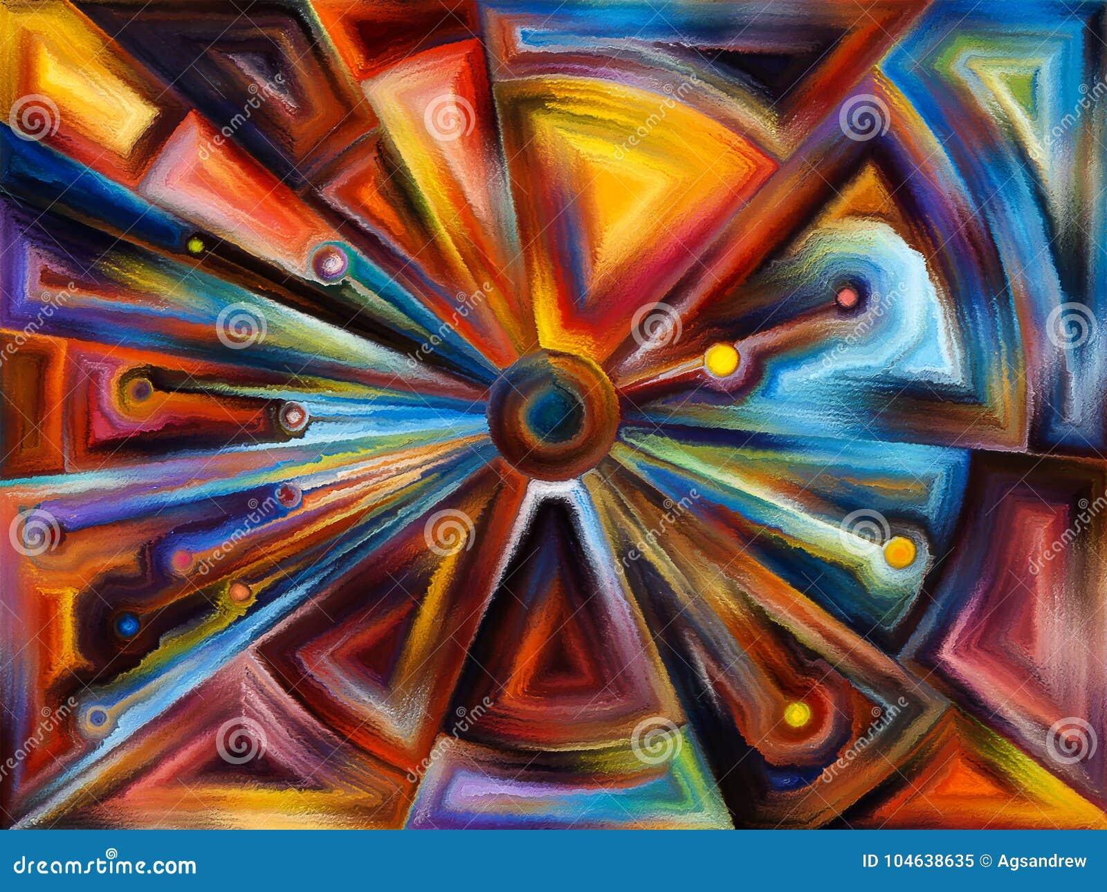 Cirkelgebrandschilderd glasontwerp