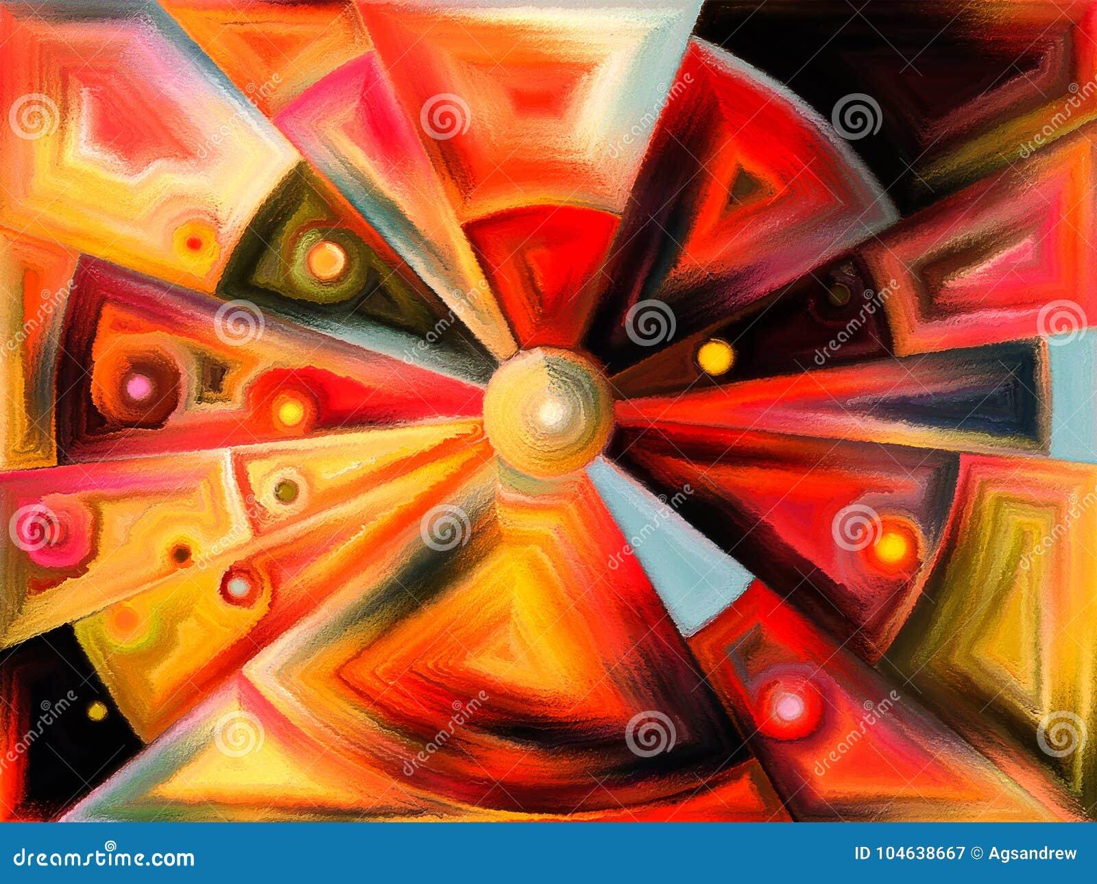 Download Cirkelgebrandschilderd Glasontwerp Stock Illustratie - Illustratie bestaande uit artistiek, gebroken: 104638667
