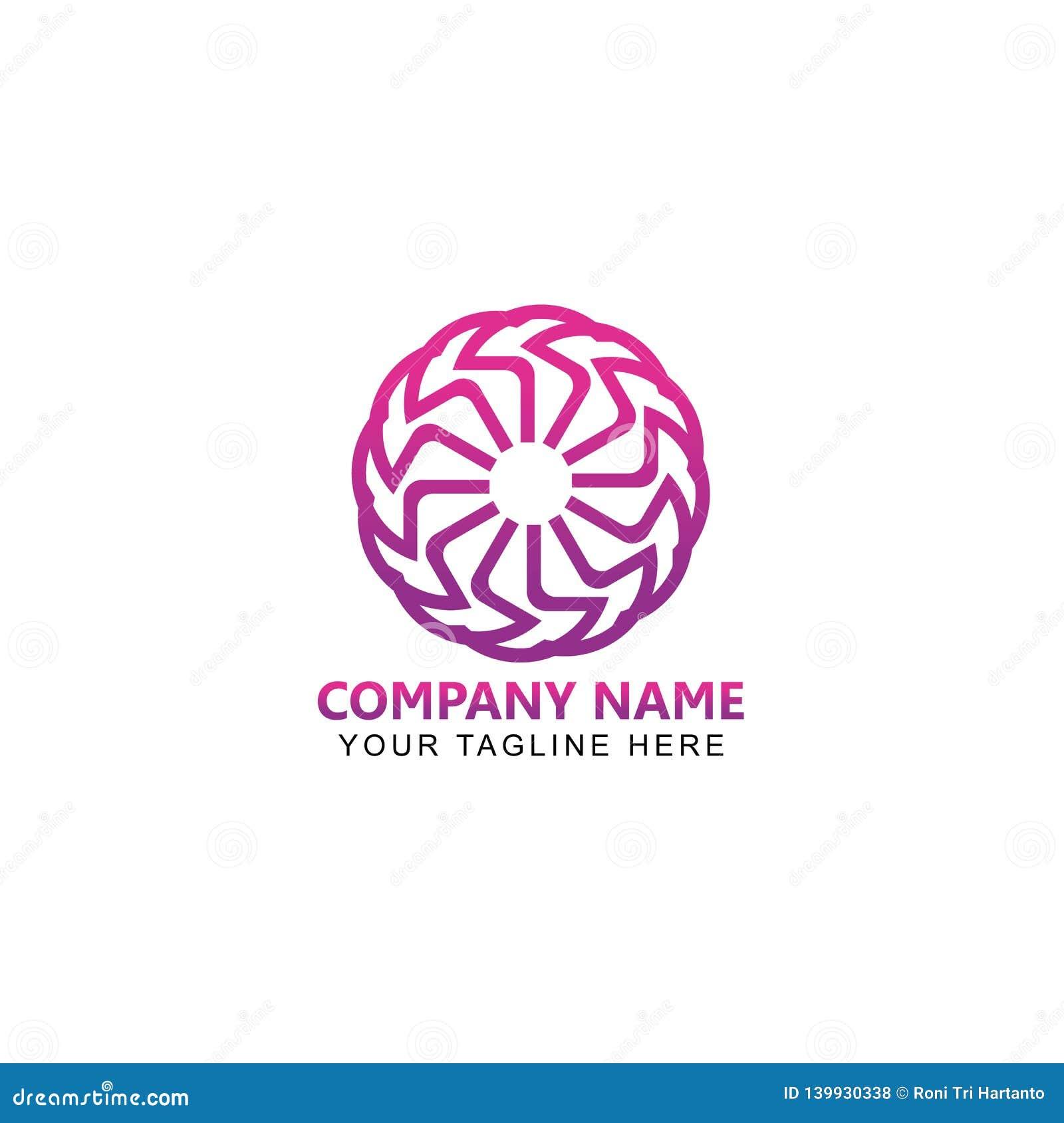 Cirkellijn Art Logo Design Vector