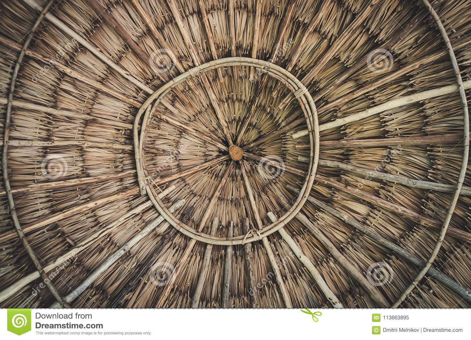 Cirkeltextuur van een bamboekom